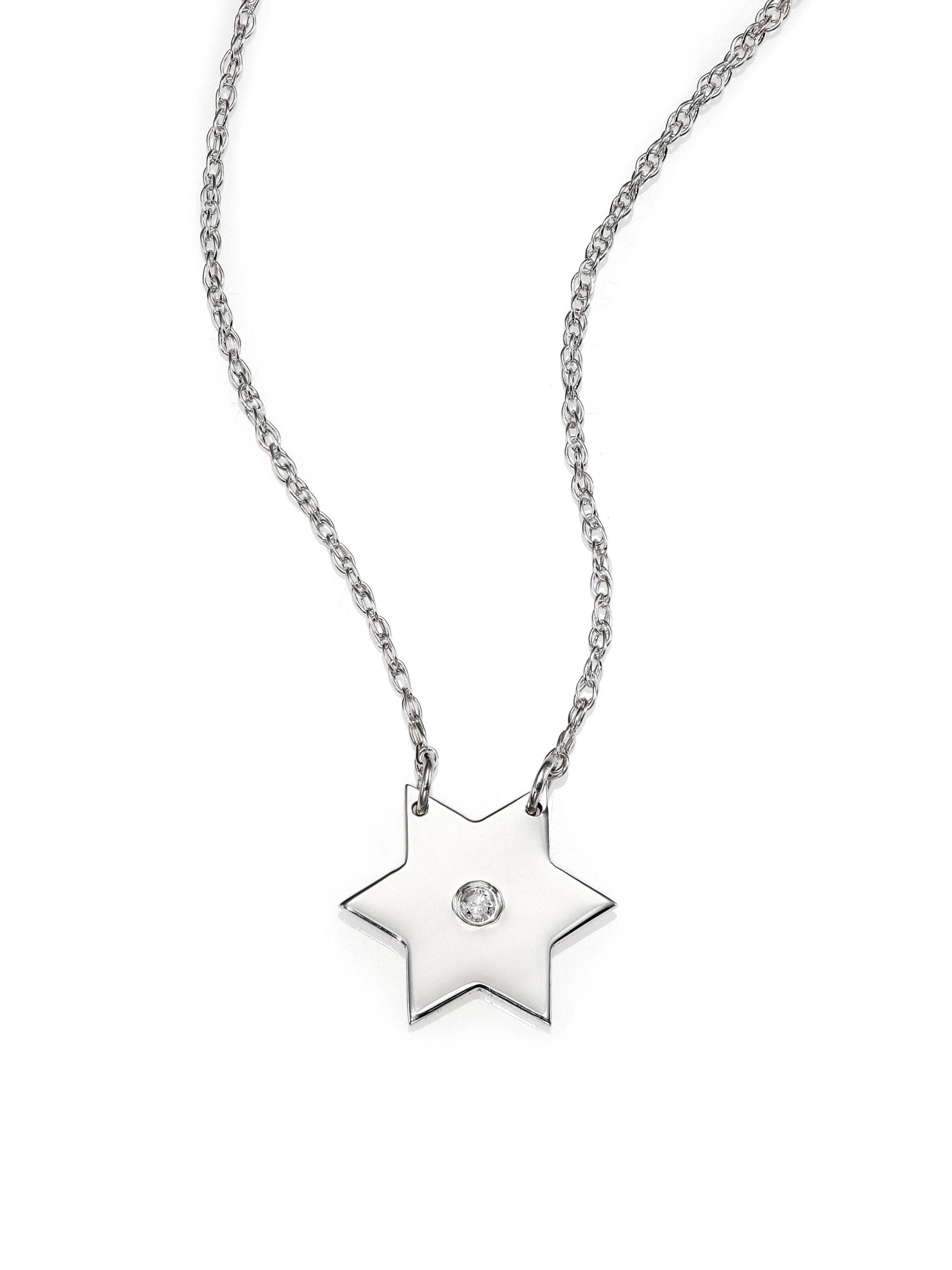 Elegant silver star pendant necklace jewellrys website jennifer zeuner stella diamond sterling silver star pendant aloadofball Image collections