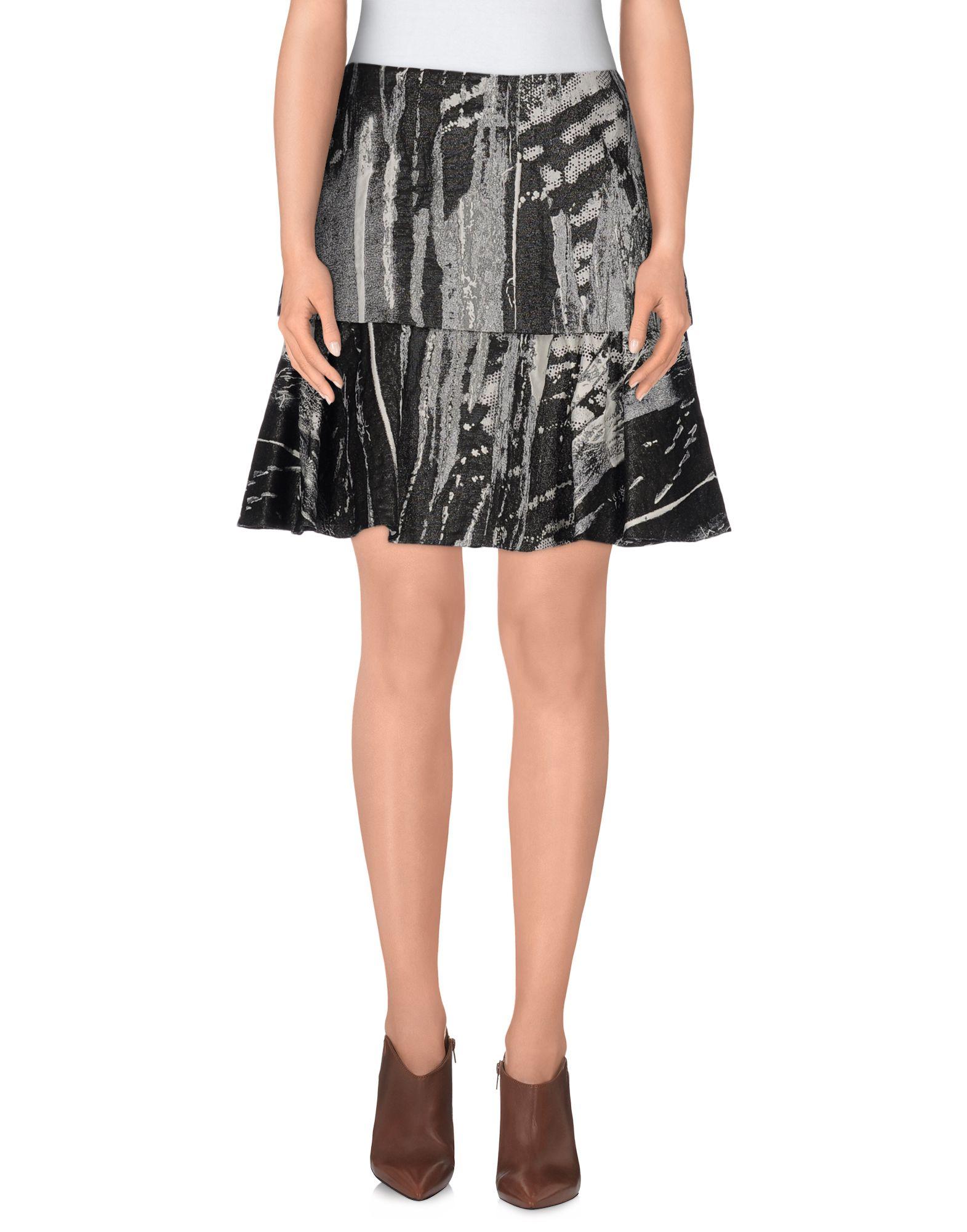 philosophy di alberta ferretti knee length skirt in gray