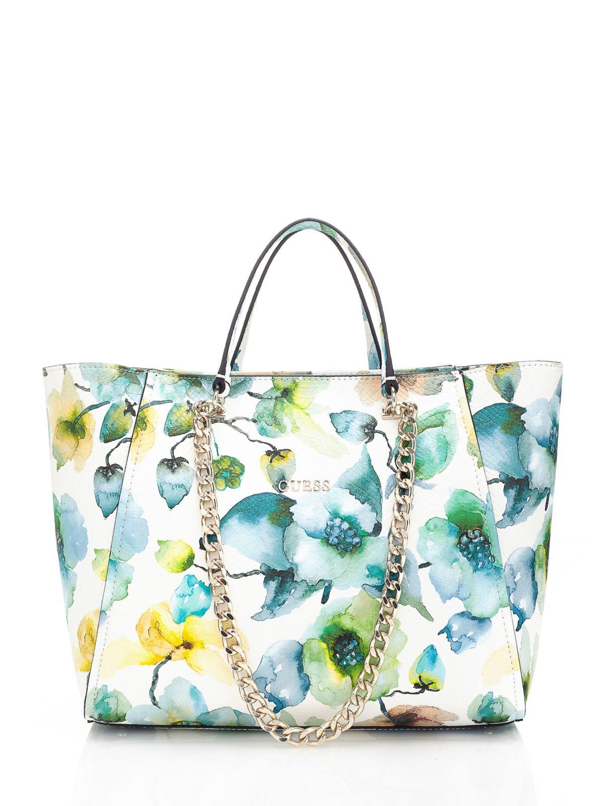Guess Nikki Floral Print Bag Lyst
