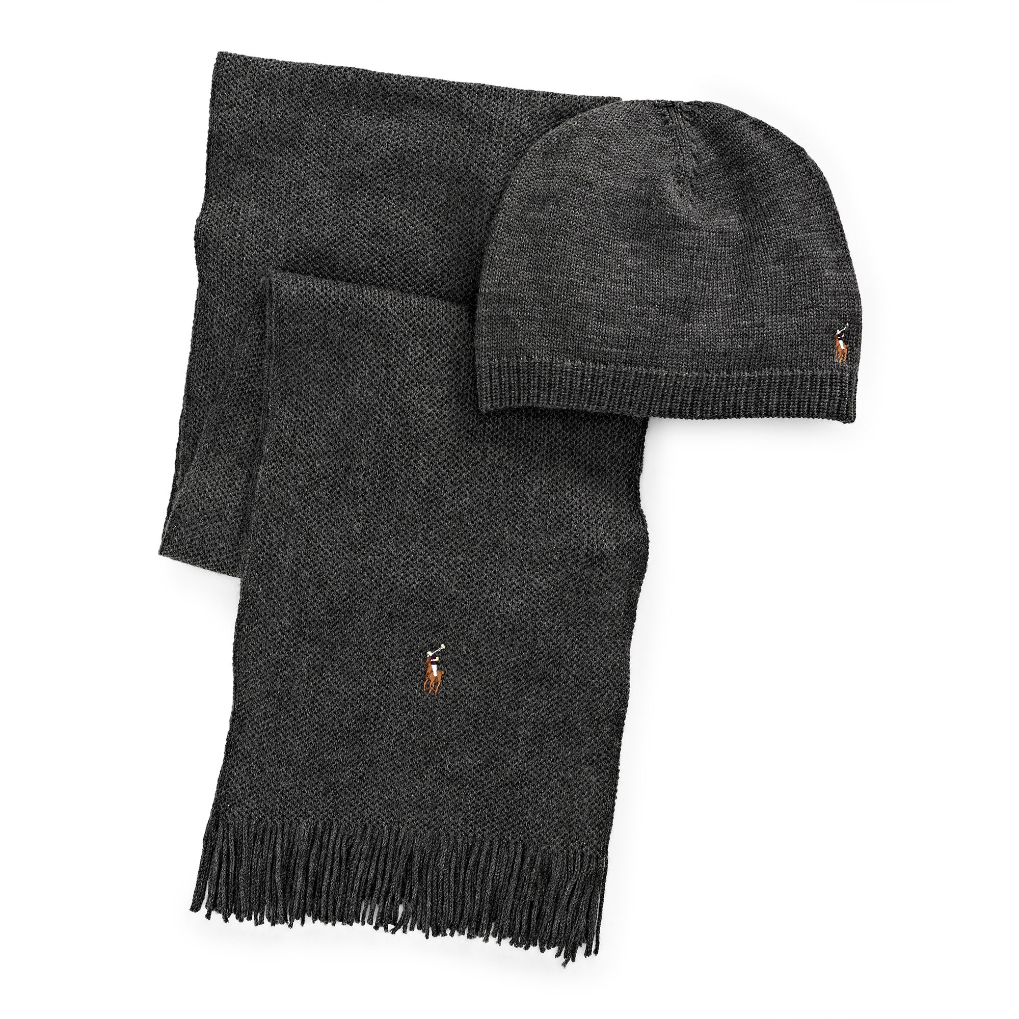 652056338 ... official store lyst polo ralph lauren wool hat scarf gift set in gray  for men 13752