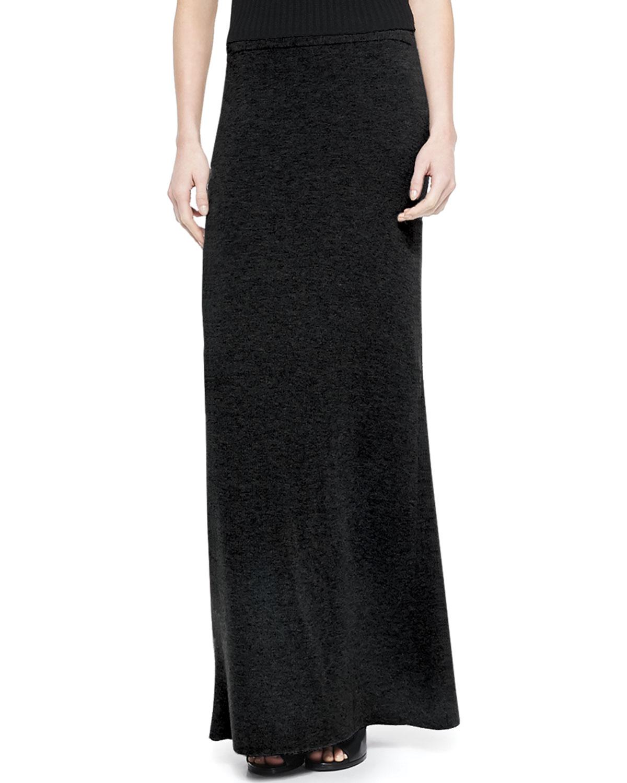 theory niya knit maxi skirt in black lyst