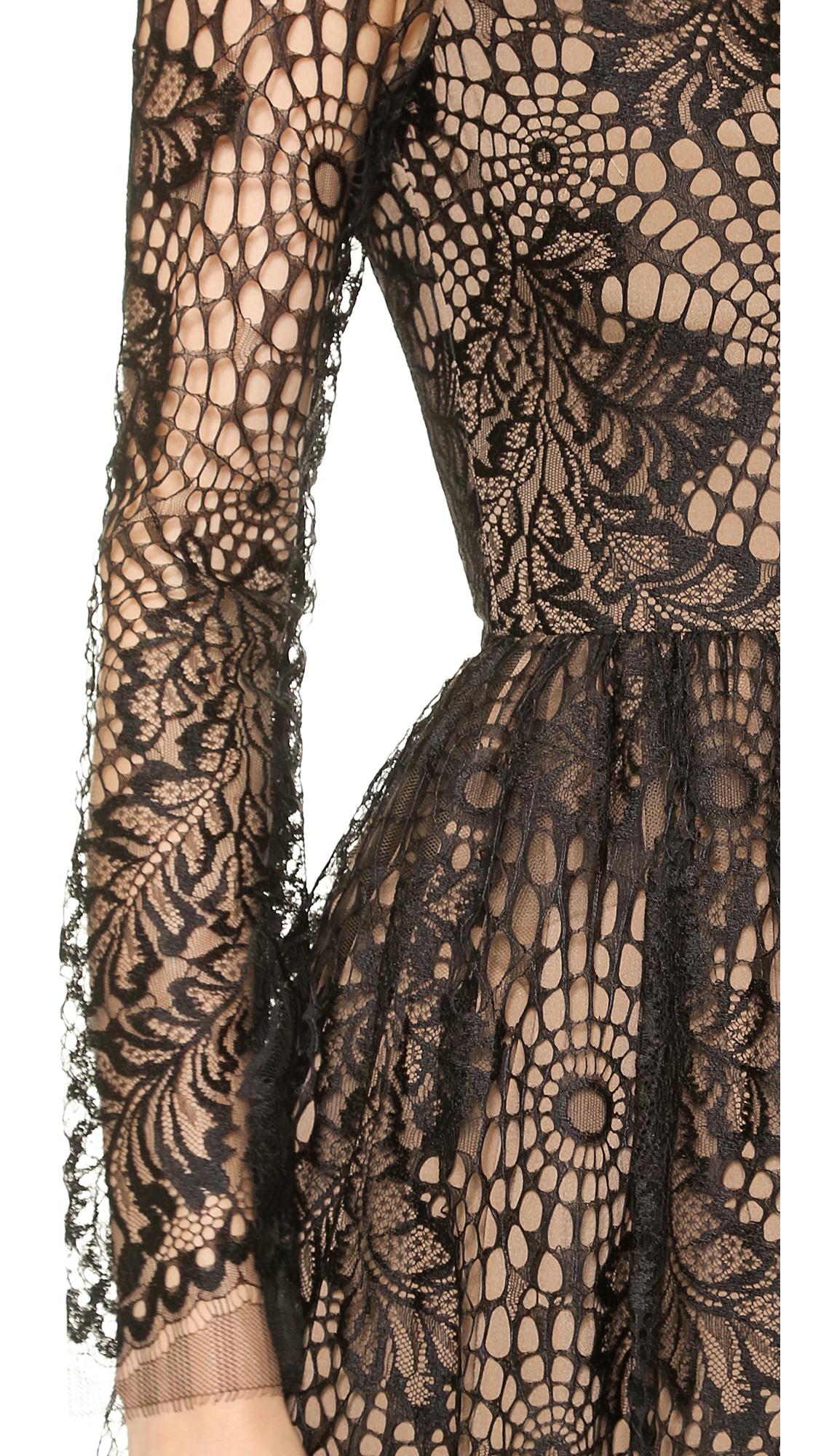 Web Lace Dress Black