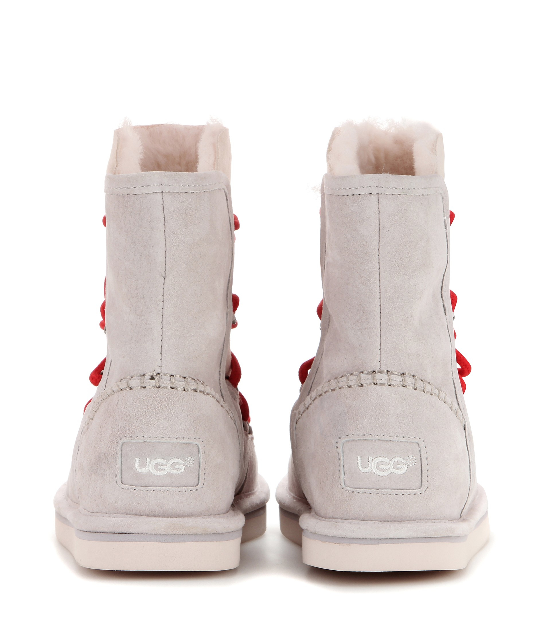 UGG Lodge Shearling-Lined Ankle Boots in Grey