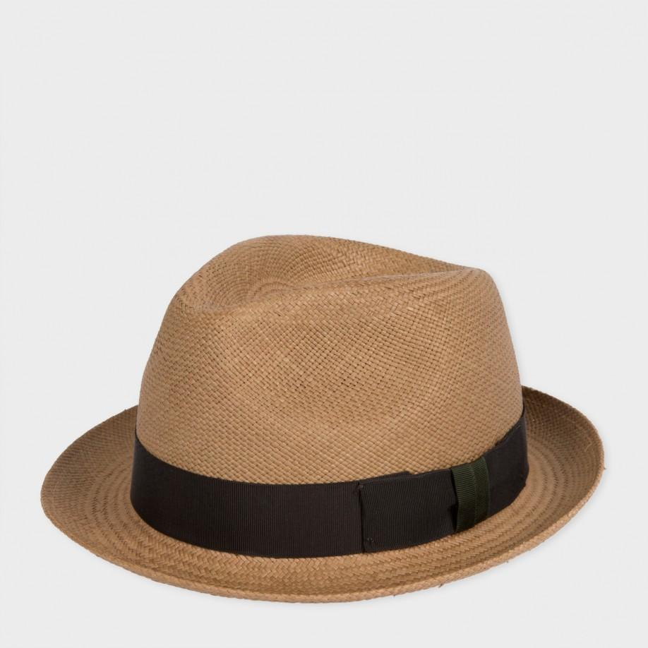 d973040e119 Paul Smith Christys  Tan Straw Panama Trilby Hat in Brown for Men - Lyst