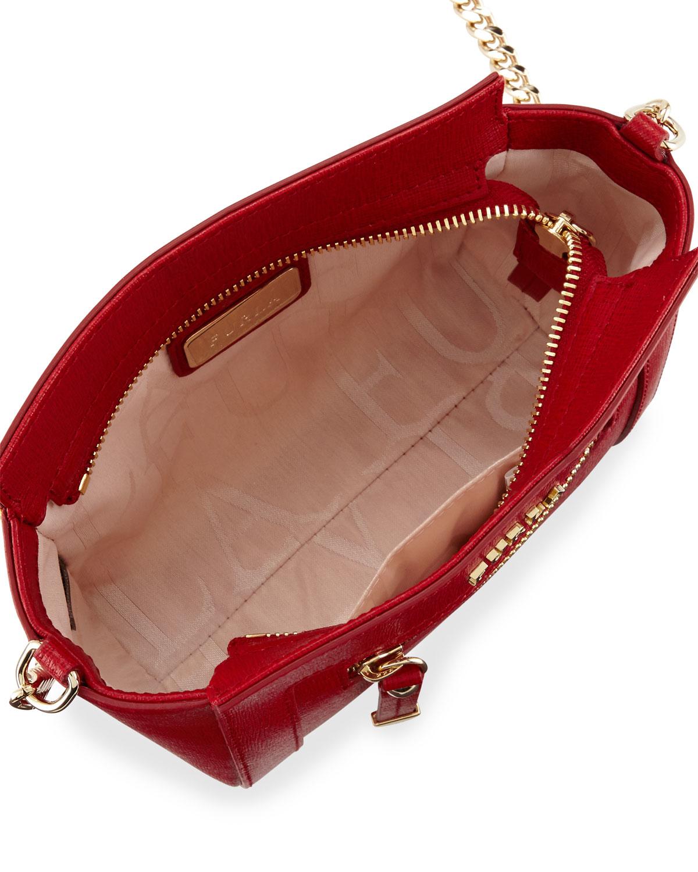 fbc443c449ef Lyst - Furla Ginevra Mini Leather Crossbody Bag in Red