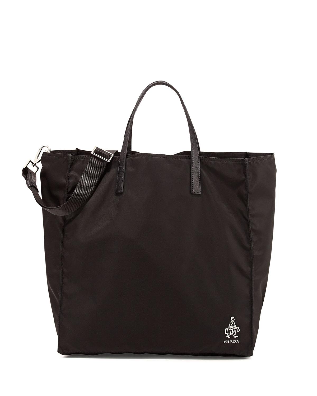 faux prada bag - Prada Porter Men\u0026#39;s Nylon Tote Bag in Black | Lyst