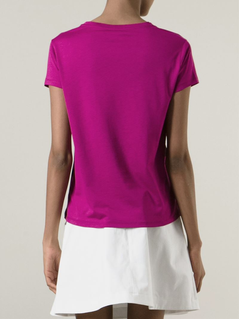 Lyst kenzo 39 paris 39 striped t shirt in purple for Purple and black striped t shirt
