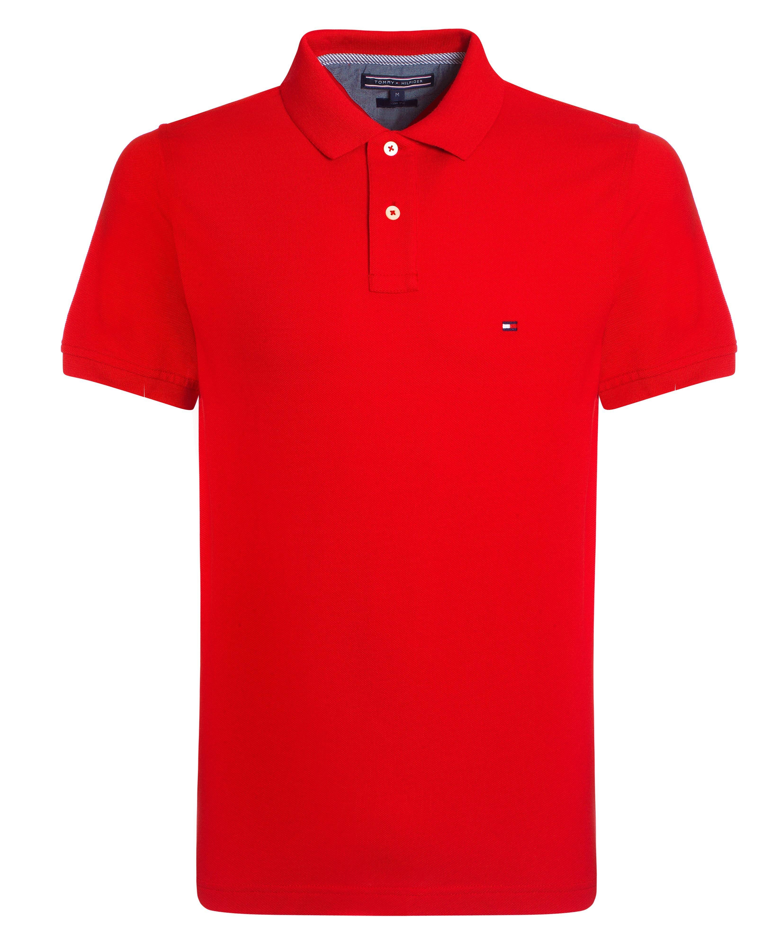 tommy hilfiger slim fit polo shirt in red for men formula. Black Bedroom Furniture Sets. Home Design Ideas