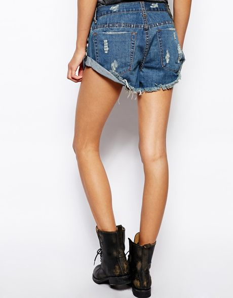 One Teaspoon Denim Shorts One Teaspoon Val Halla