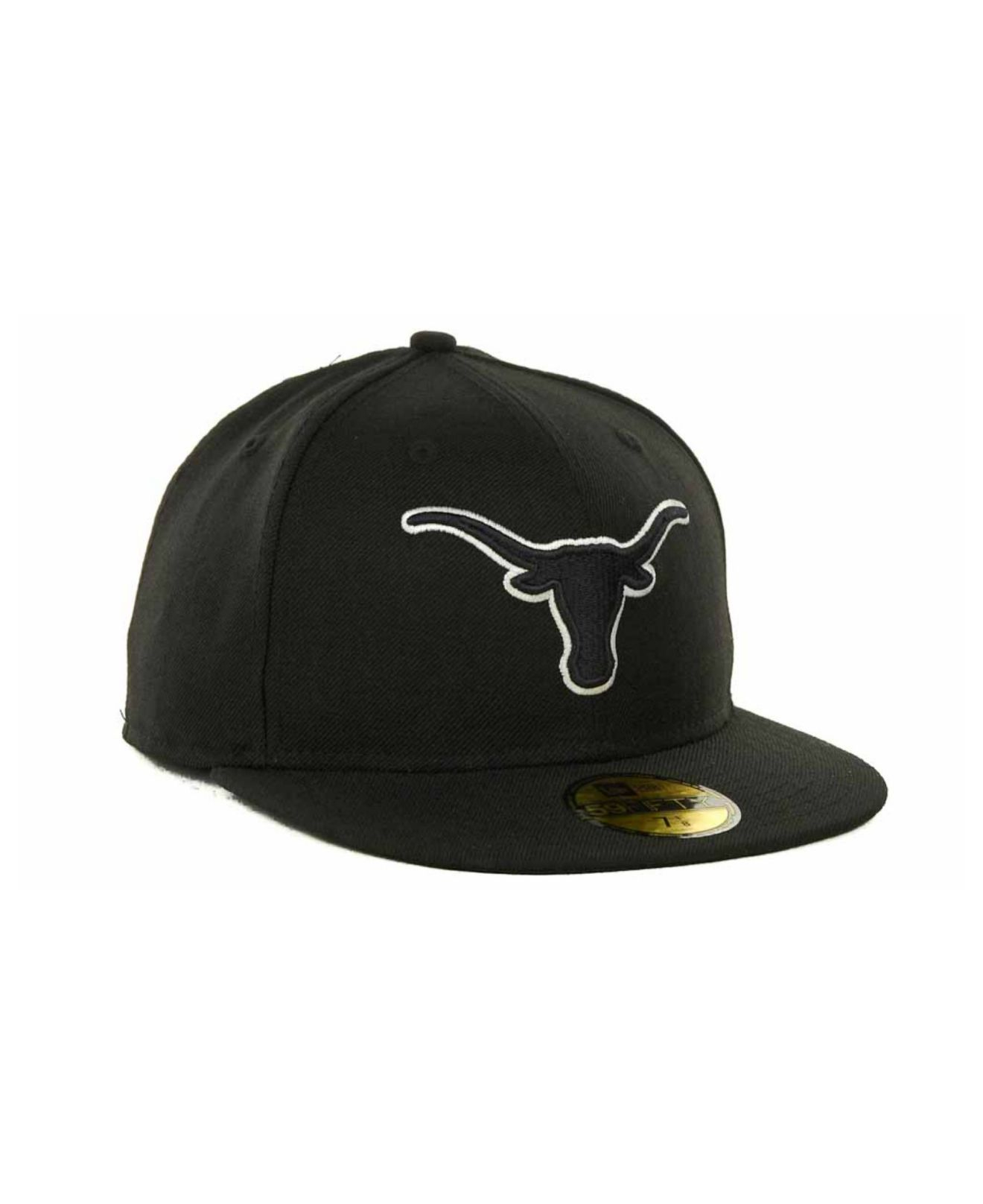 reputable site 54d9d 637a6 ... store lyst ktz texas longhorns black on black with white 59fifty cap in  1704d 97149