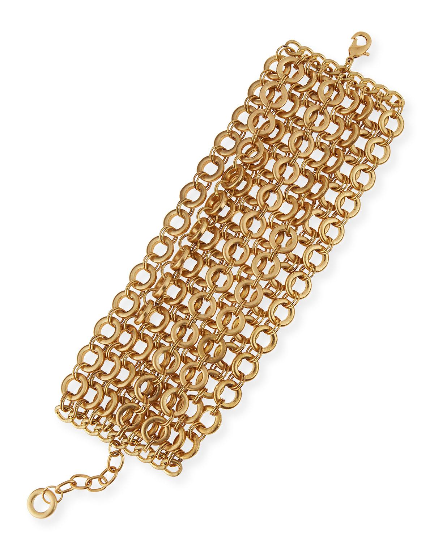 r j graziano mtte chain flatline bracelet in metallic lyst