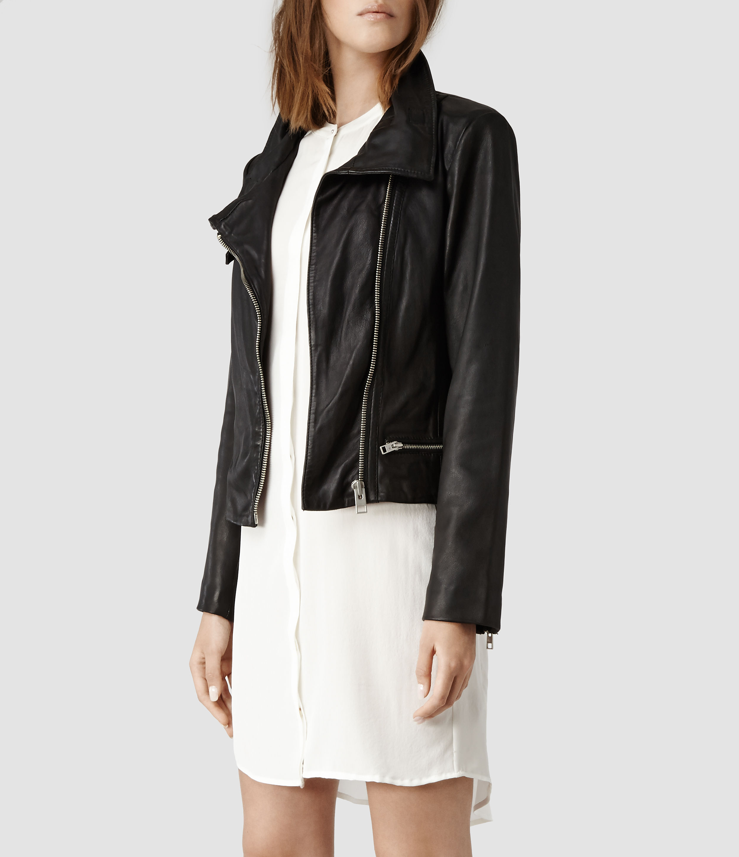 Leather jacket all saints - Be Inspired