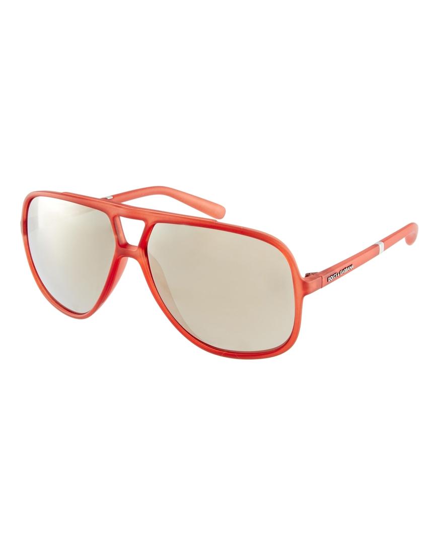 490c5580142 Lyst - Dolce   Gabbana Aviator Sunglasses in Red for Men
