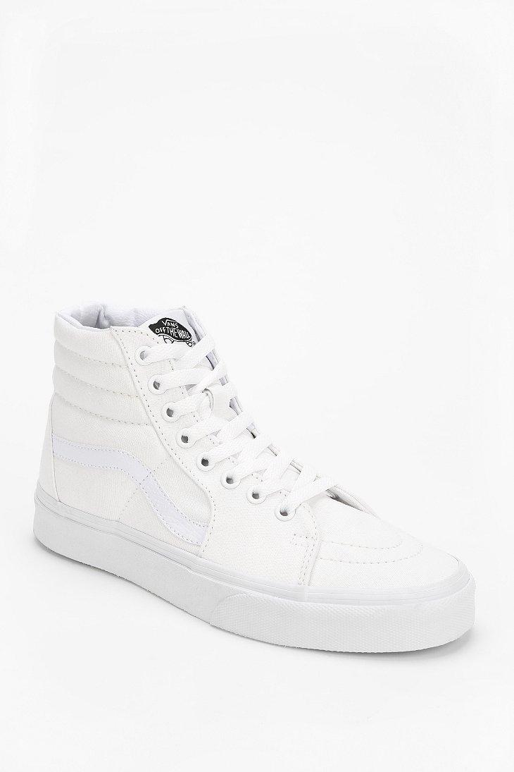 Sk8hi Womens White Hightop Sneaker Vans D2HEIW9