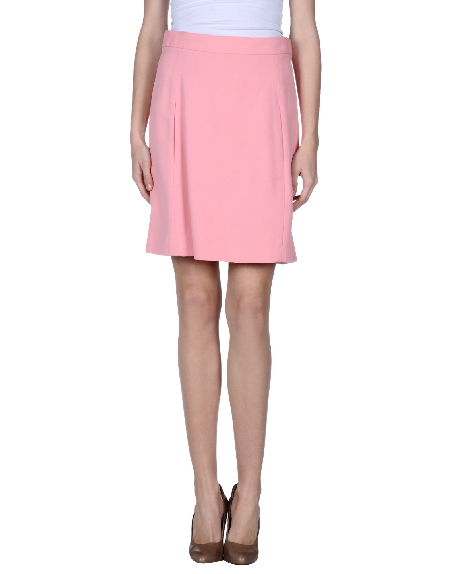 chlo 233 knee length skirt in pink lyst