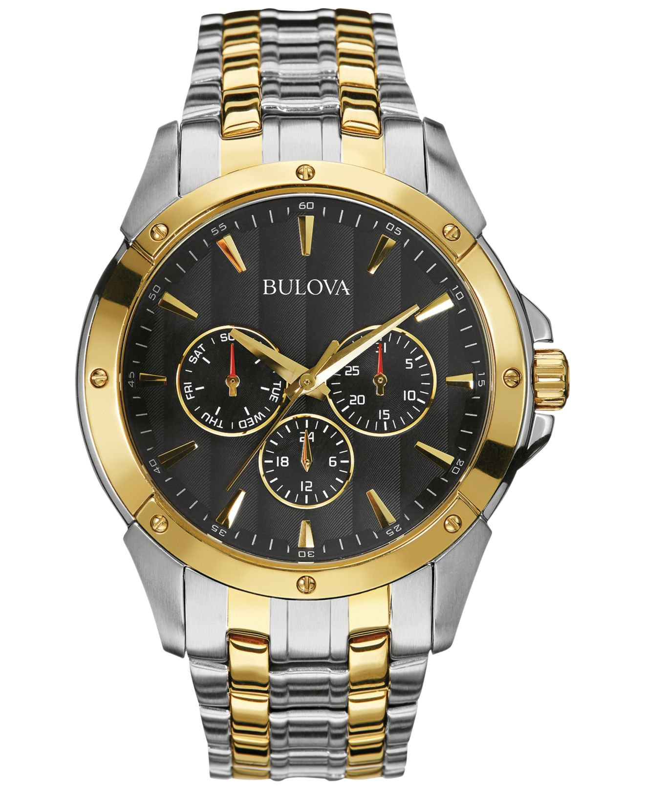 Bulova Men's Two-tone Stainless Steel Bracelet Watch 43mm ...