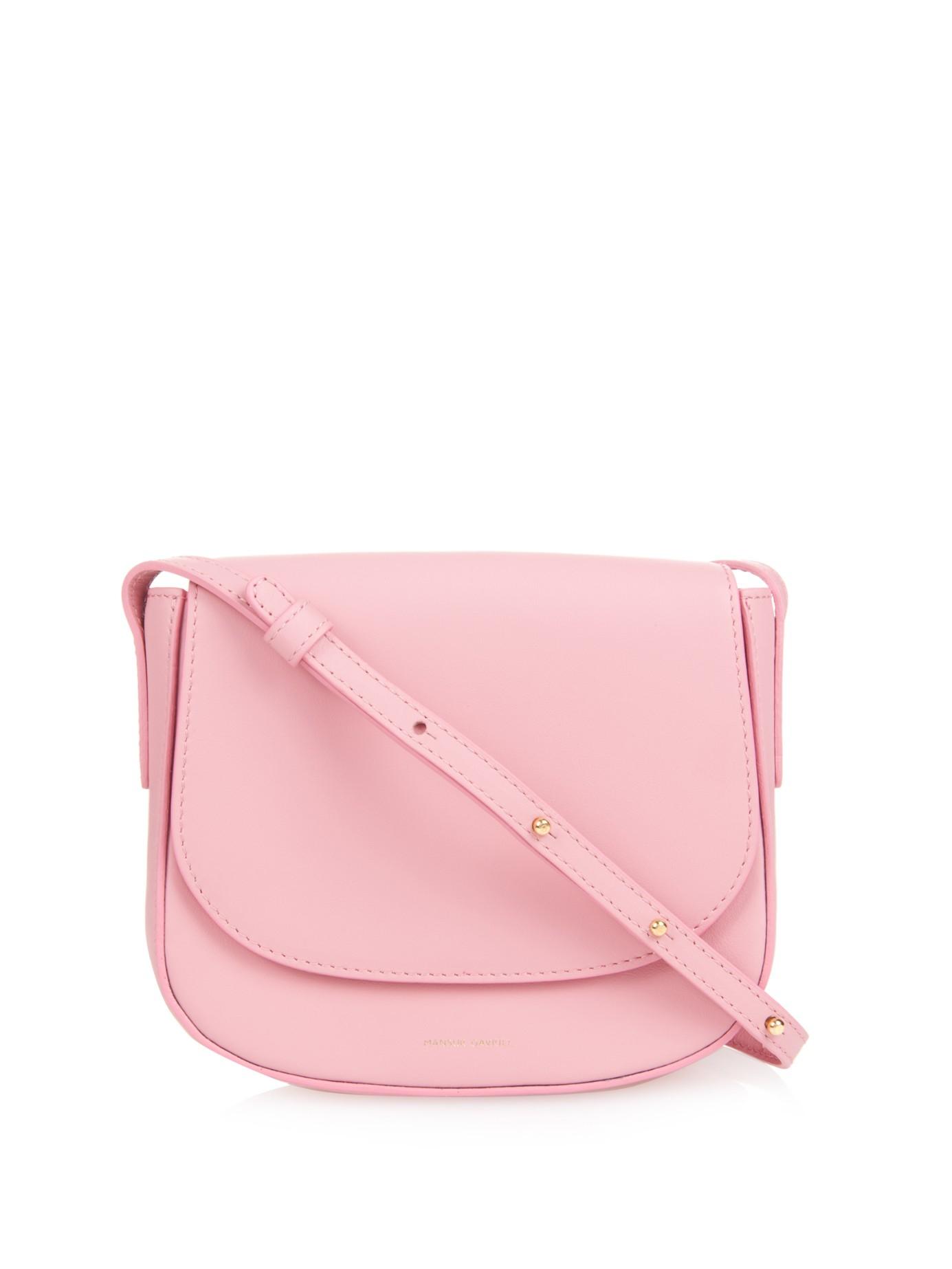 1c8fa2a1ec Lyst - Mansur Gavriel Mini Calf-leather Cross-body Bag in Pink