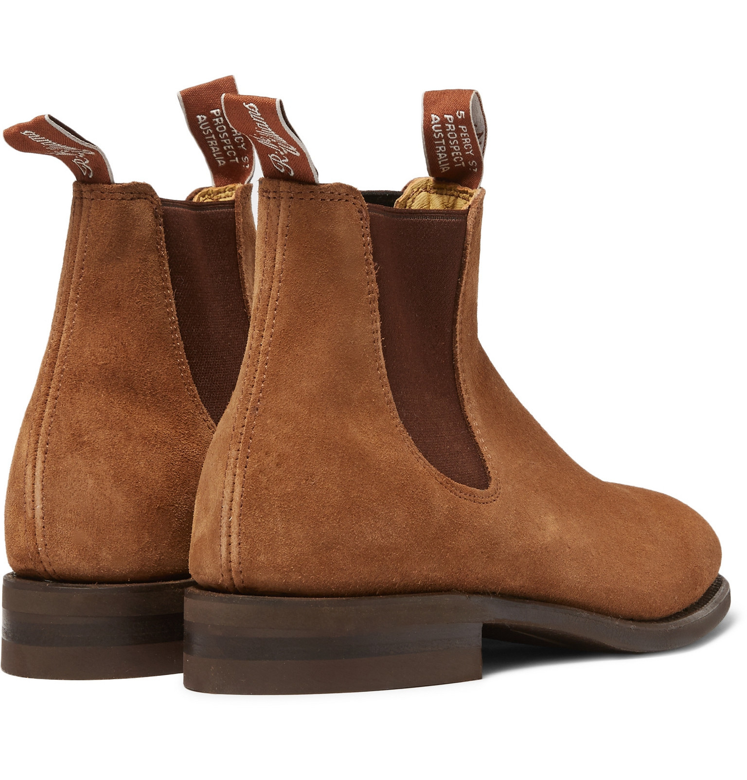 R M Williams Suede Chelsea Boots In Brown For Men Lyst