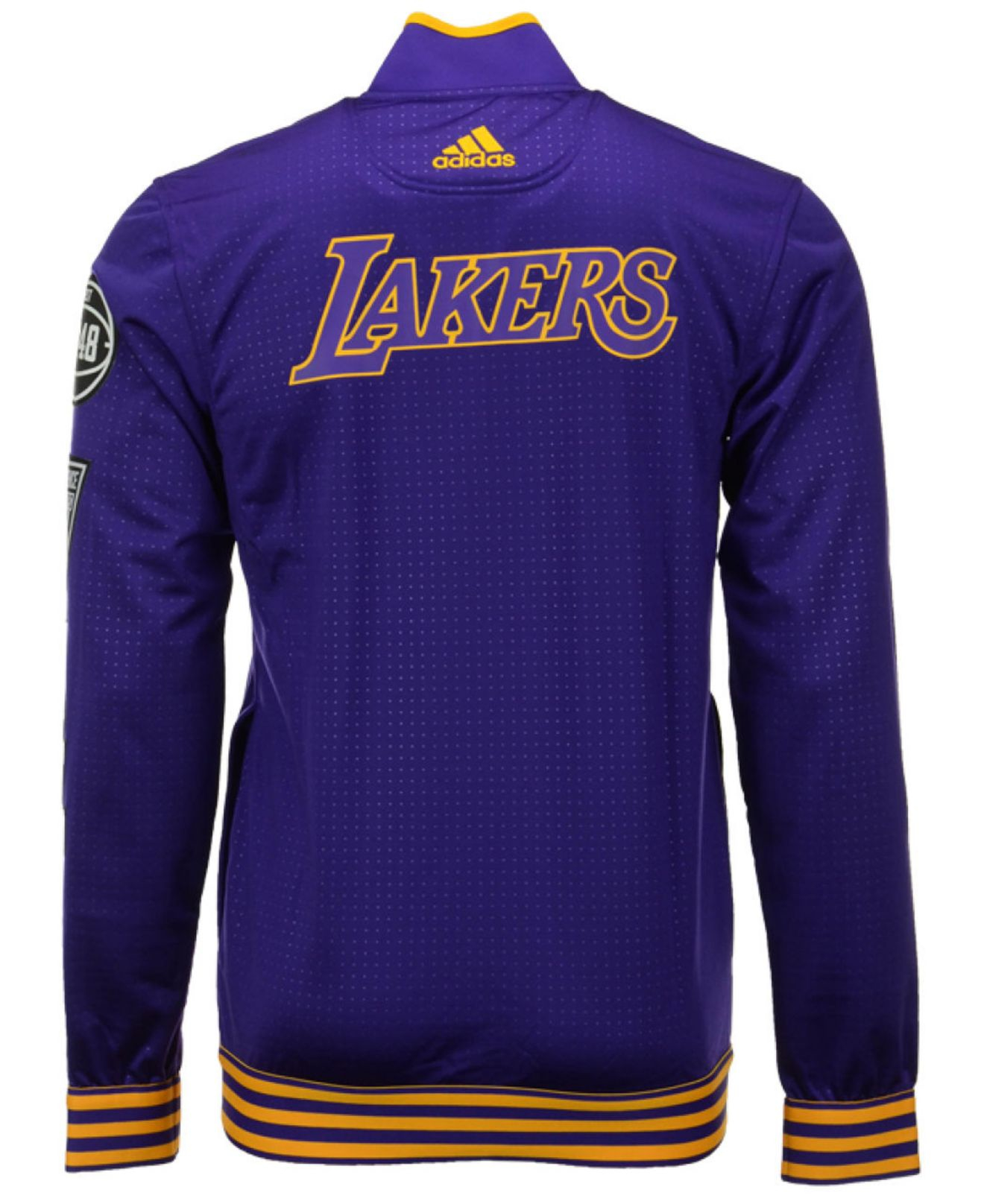 adidas Men's Los Angeles Lakers On Court Warm Up Jacket in ...