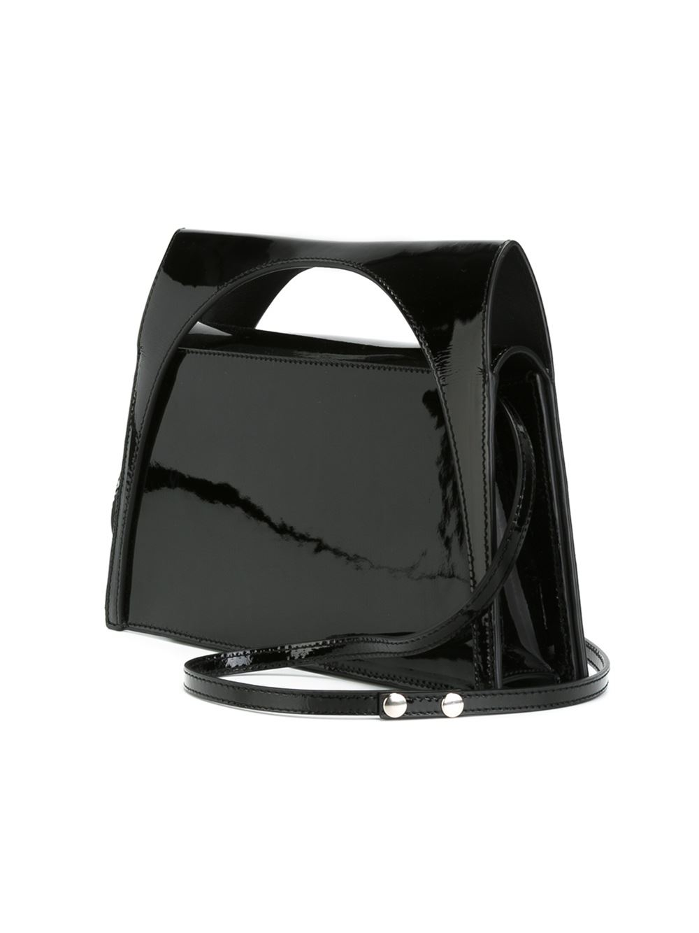 JW Anderson Small Trapeze Shape Tote in Black