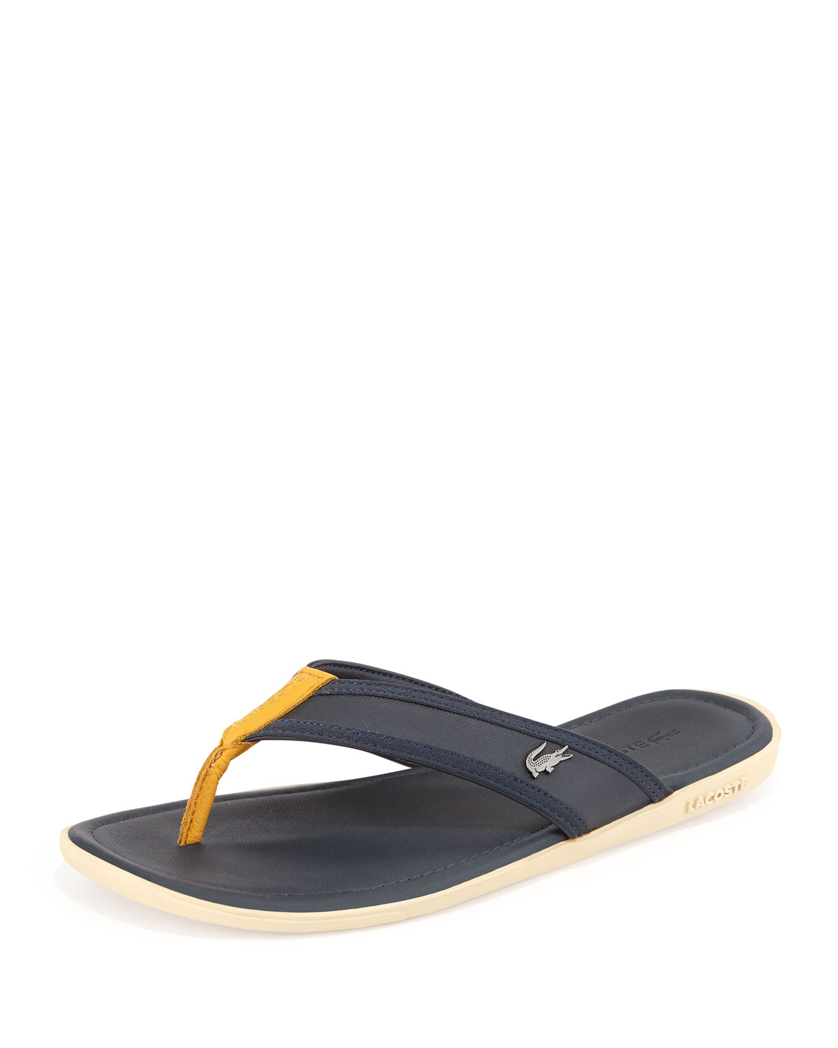 1935cd244 Lacoste Carros Mens Thong Sandal in Yellow for Men - Lyst