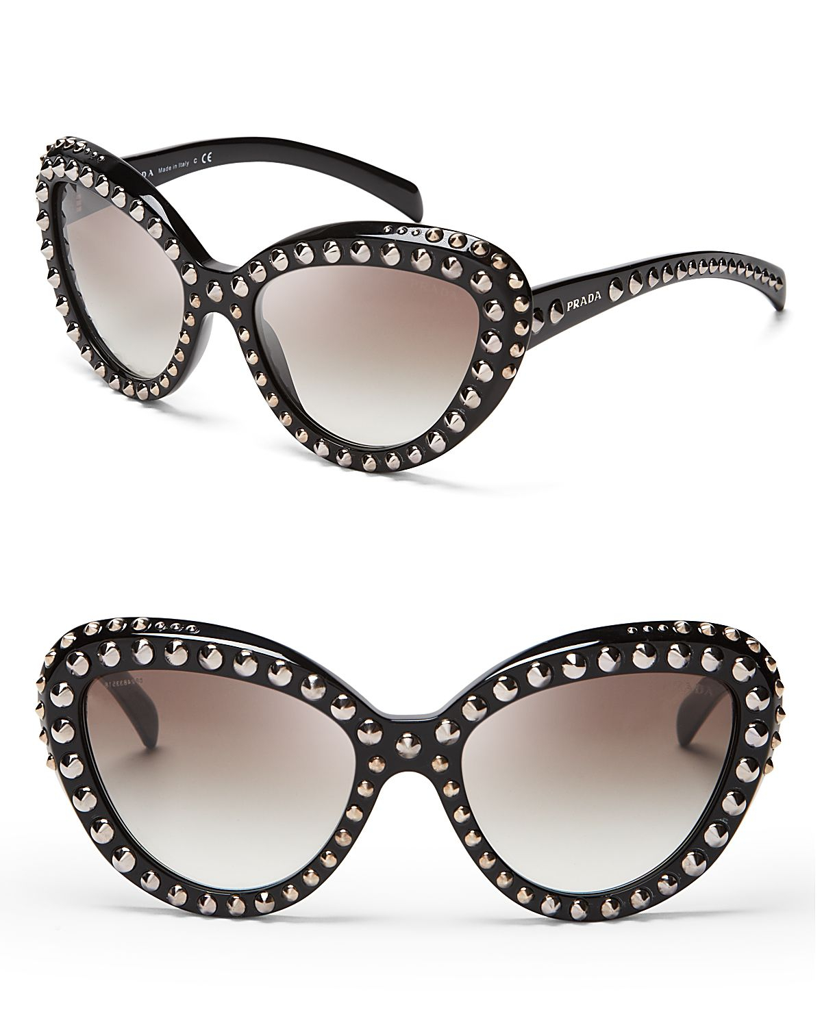 Sunglasses Prada Women S  prada absolute ornate cat eye sunglasses in black lyst