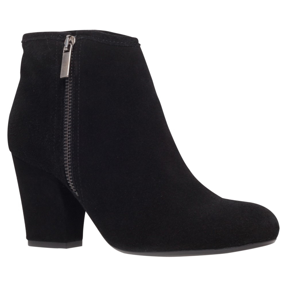 Carvela Kurt Geiger Super Suede Block Heel Ankle Boots In Black | Lyst