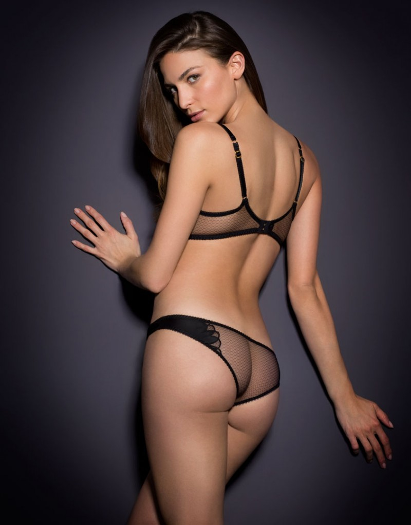 Lyst - Agent Provocateur Ellin Brief Black in Black 4ee65fed6