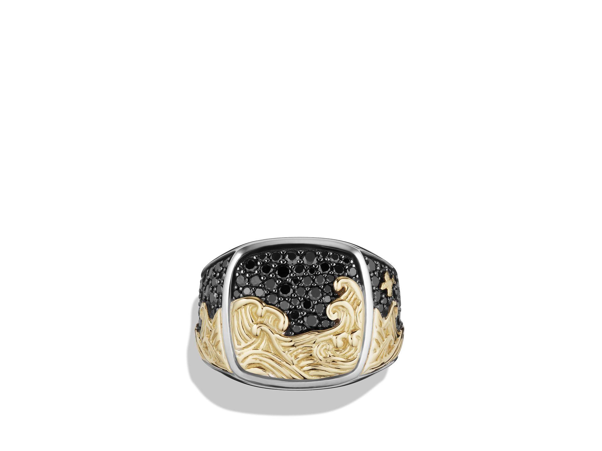K Gold Signet Ring David Yurman