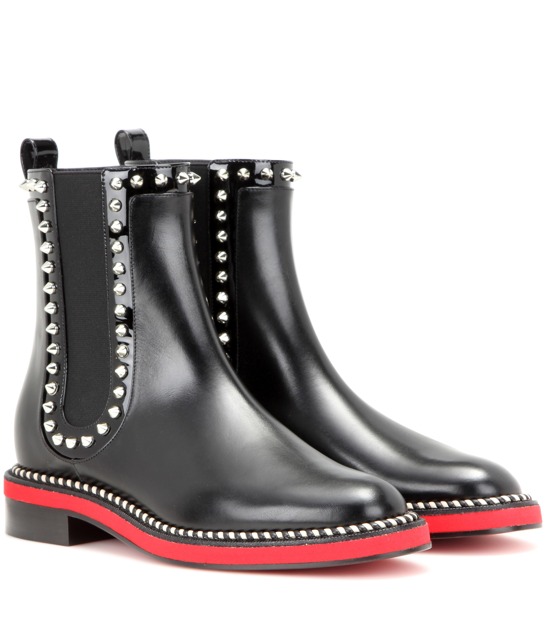 christian louboutin notting hill leather chelsea boots