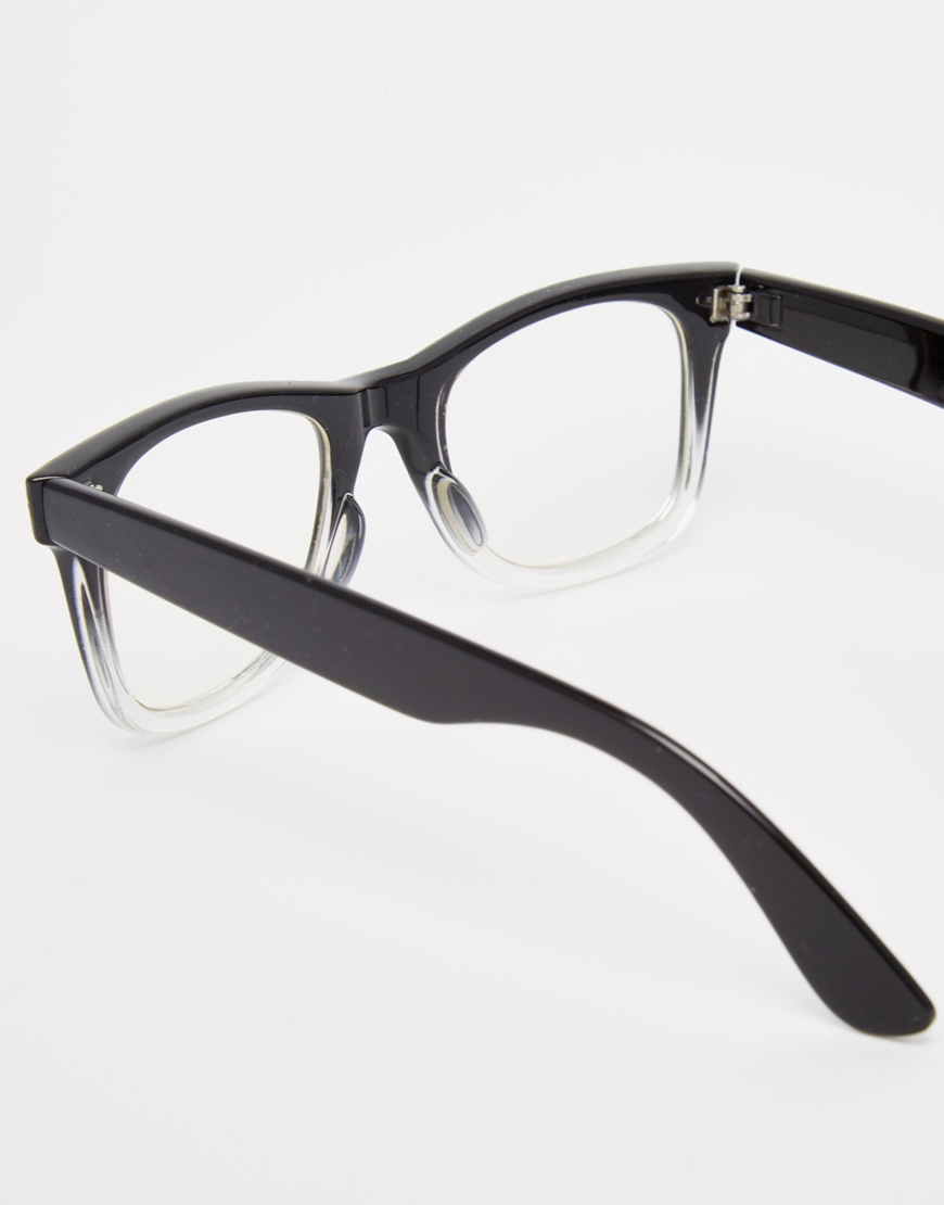 Lyst Asos Square Glasses With Clear Lens In Black For Men