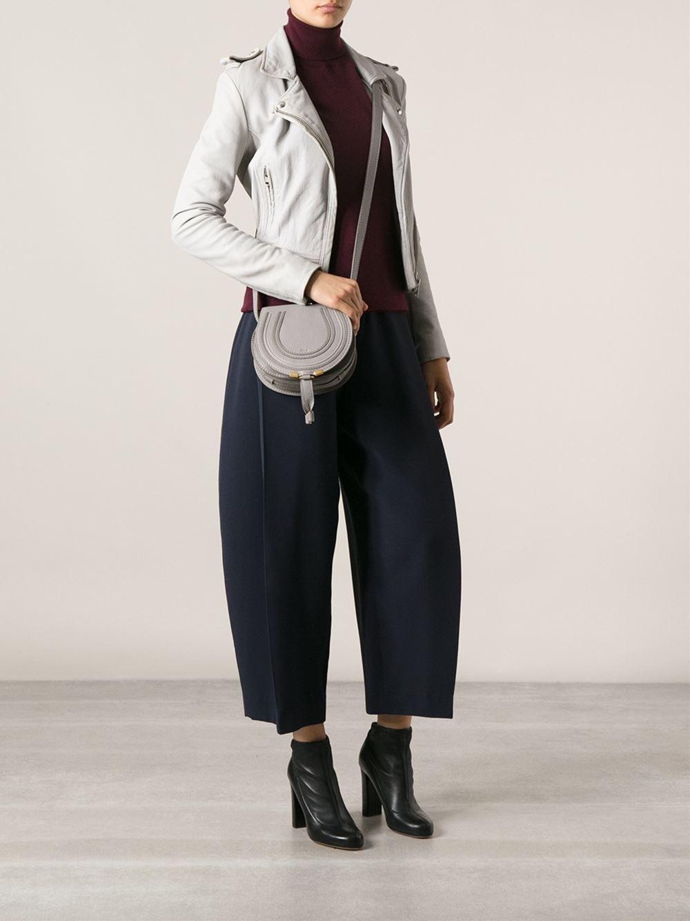 b29d694f Chloé Mini Marcie Cross Body Bag in Gray - Lyst