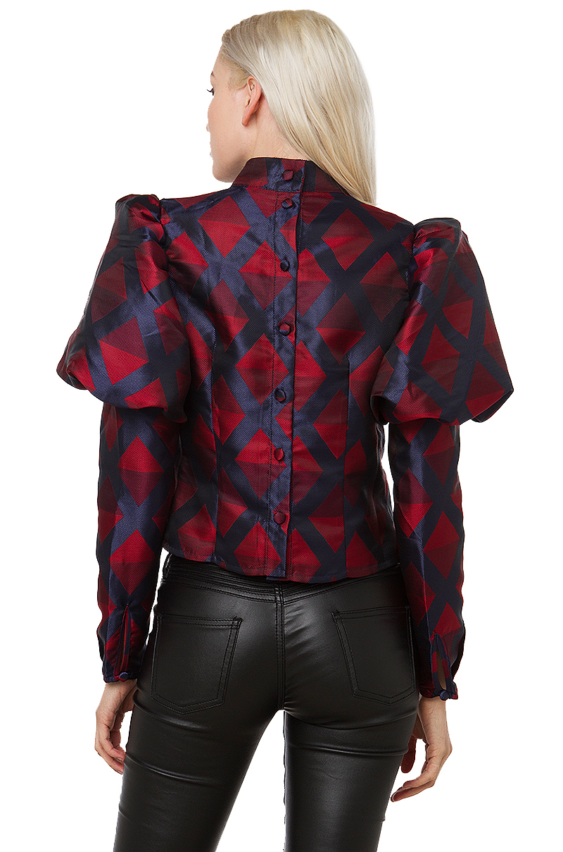 Women Red Blouse