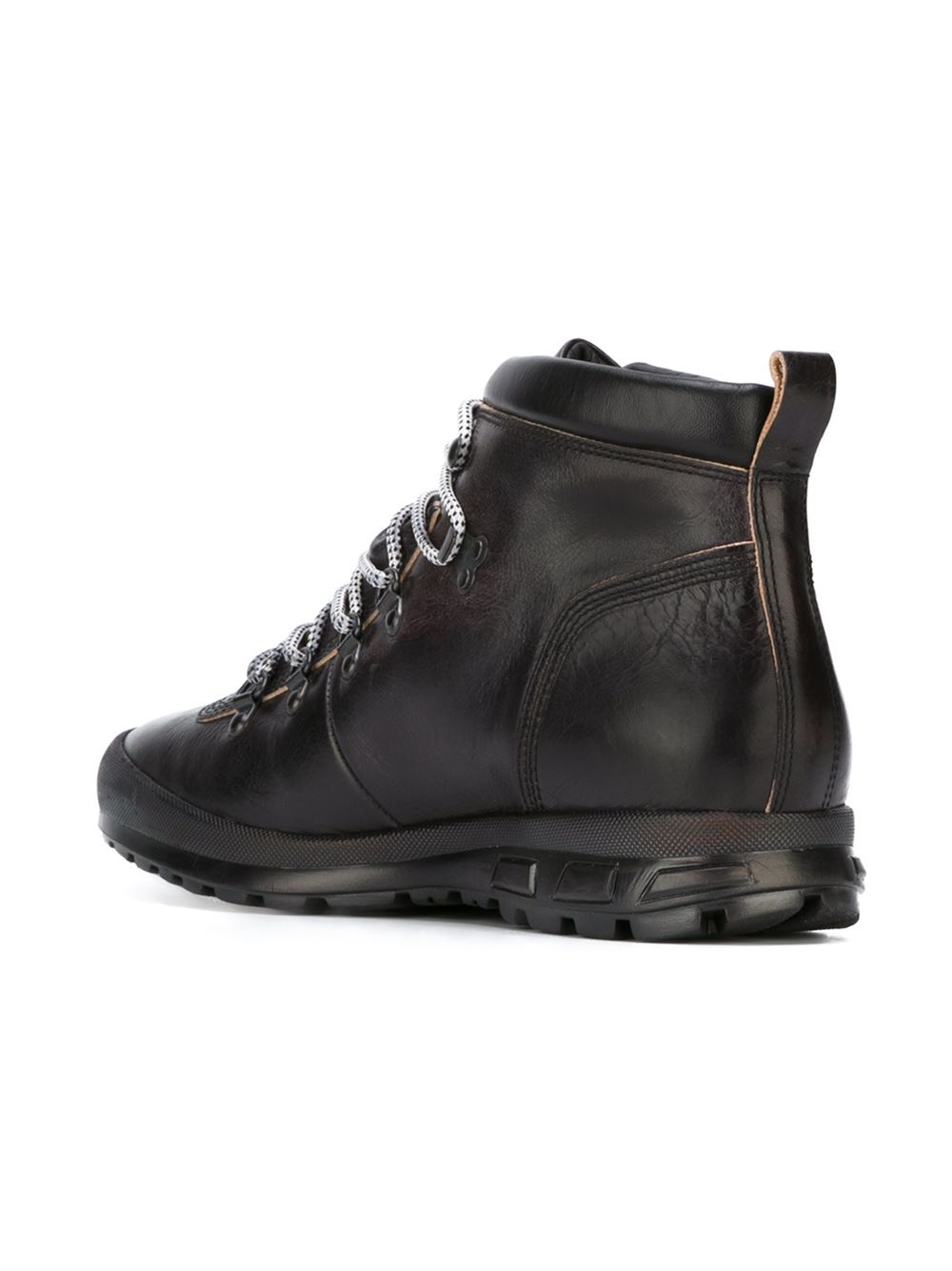 Lyst Emporio Armani Hiking Ankle Boots In Black For Men
