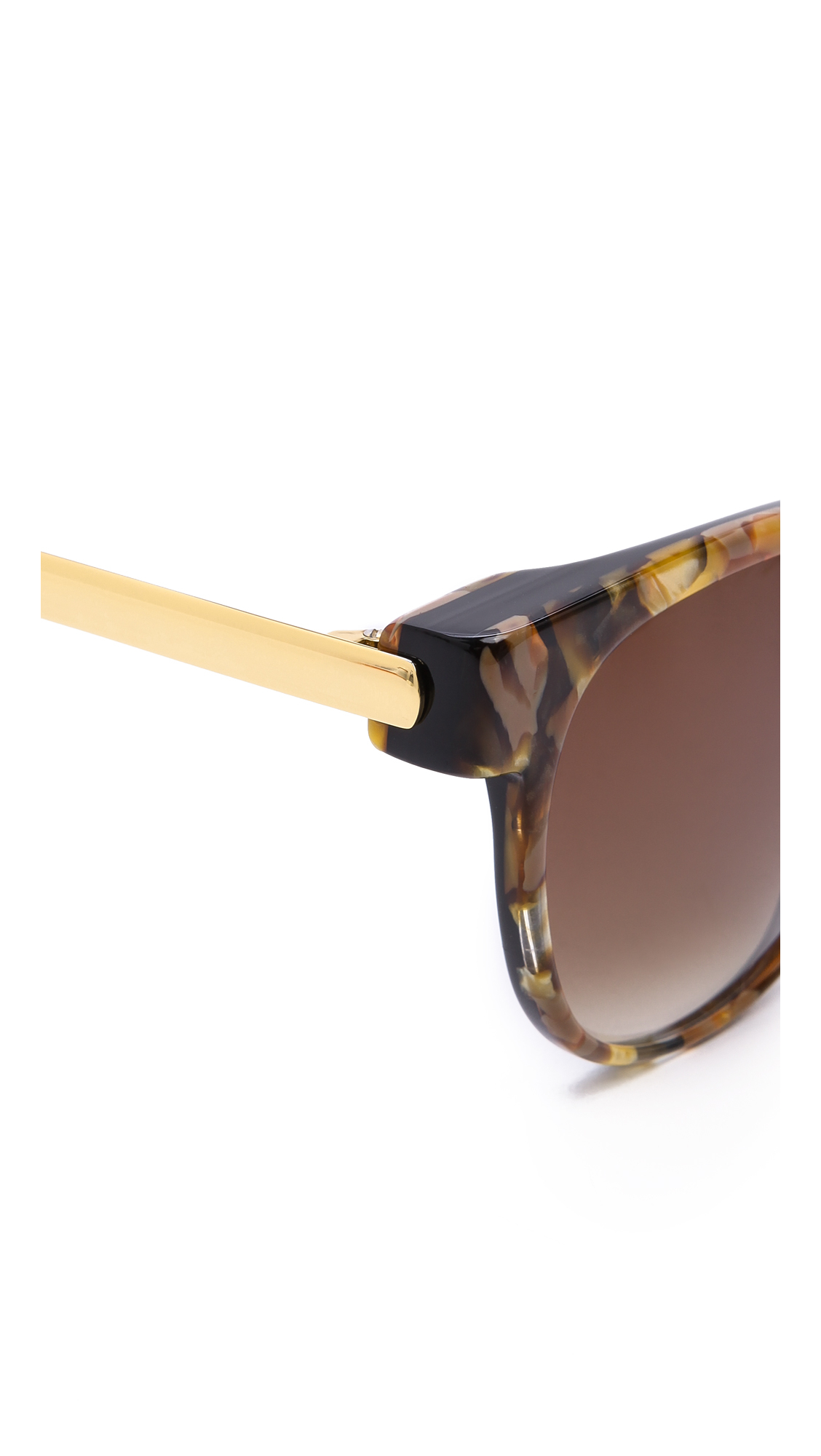 Thierry Lasry Perfidy Sunglasses in Marble Orange/Brown (Brown)