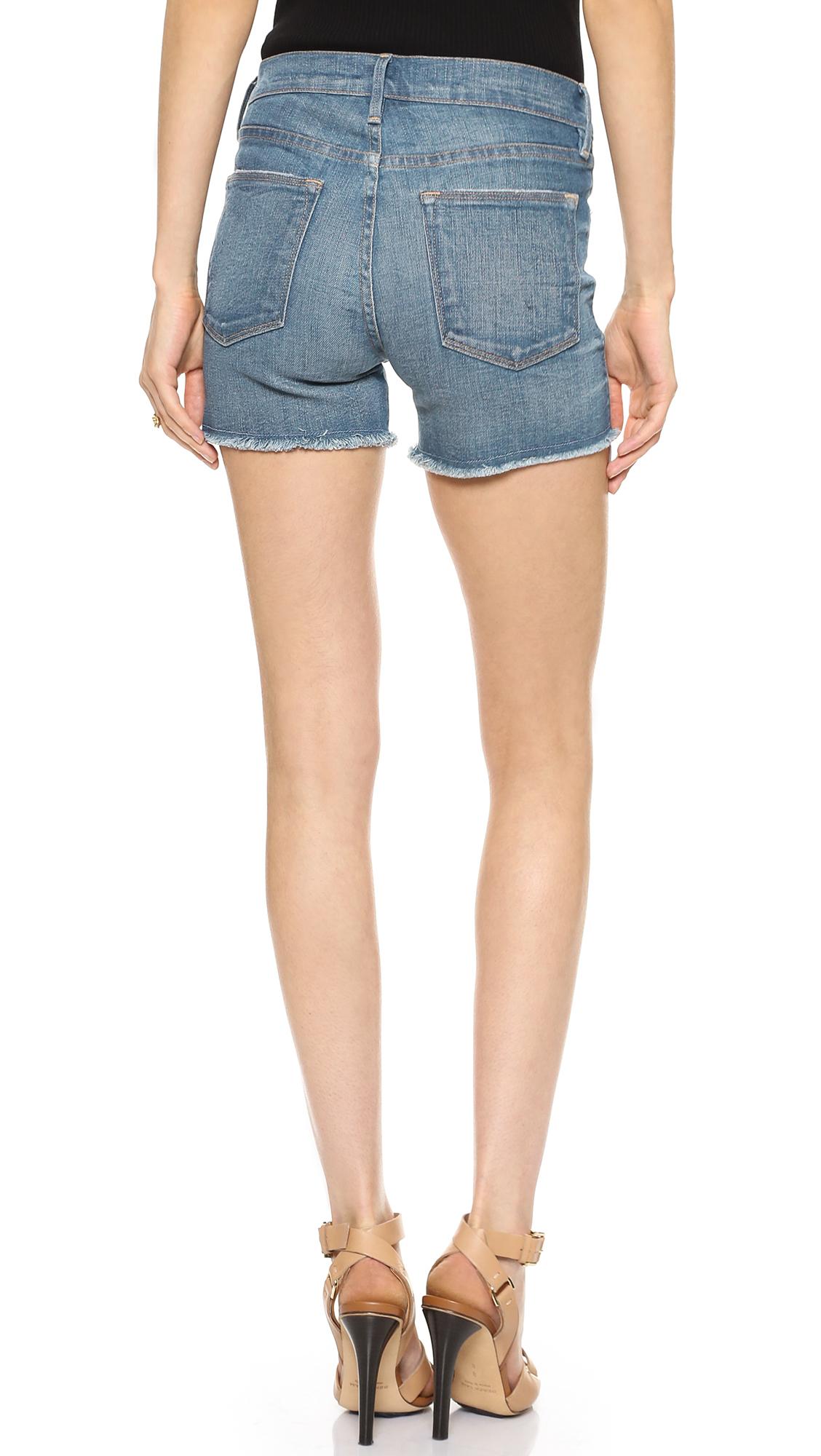 High-waisted denim shorts Frame Denim sjkDf8i