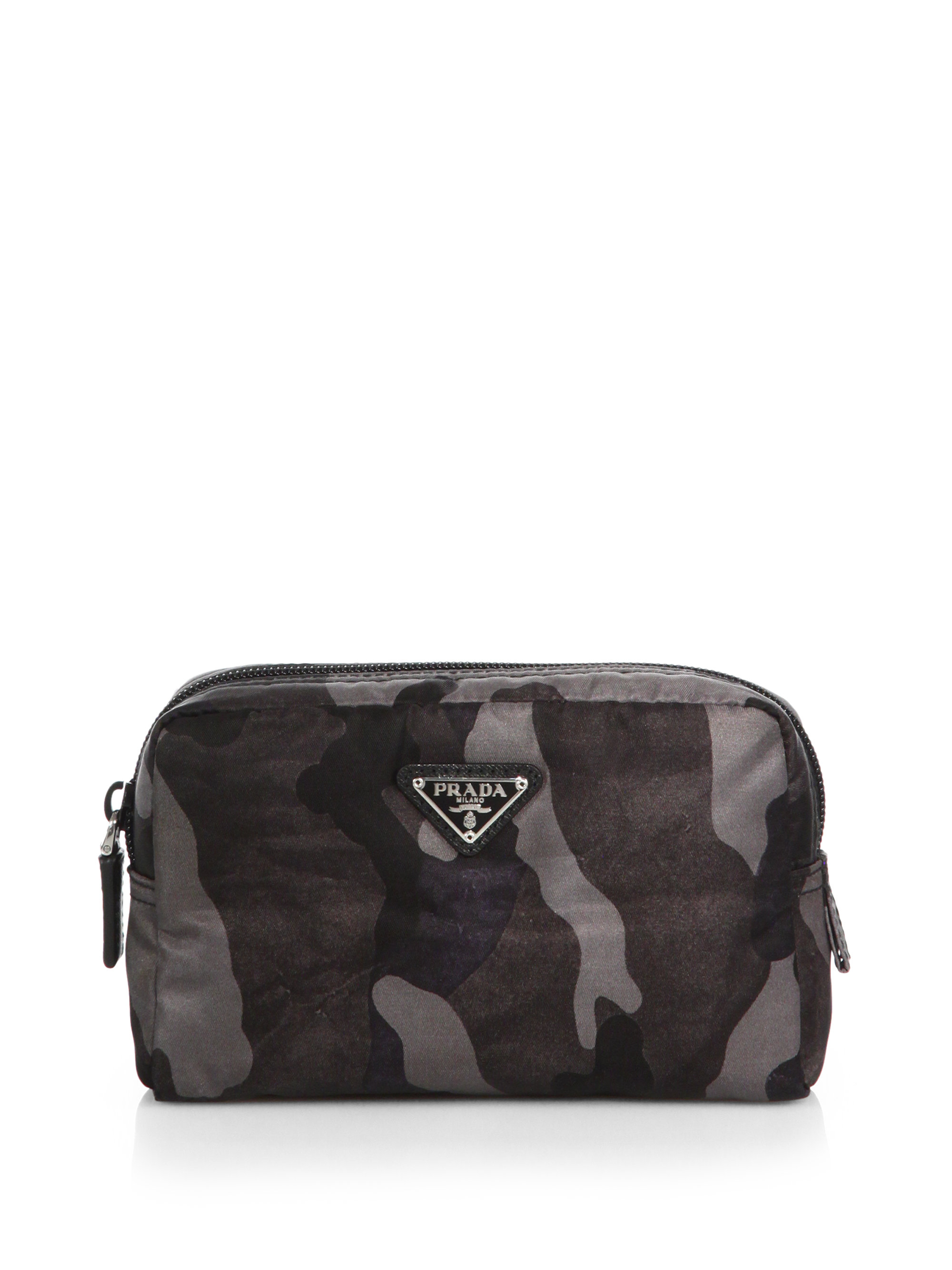 64d68ce26d Prada Transparent Totes And Satchels. Prada Tessuto Camouflage Small  Cosmetic Case in Gray for Men (FUMO .