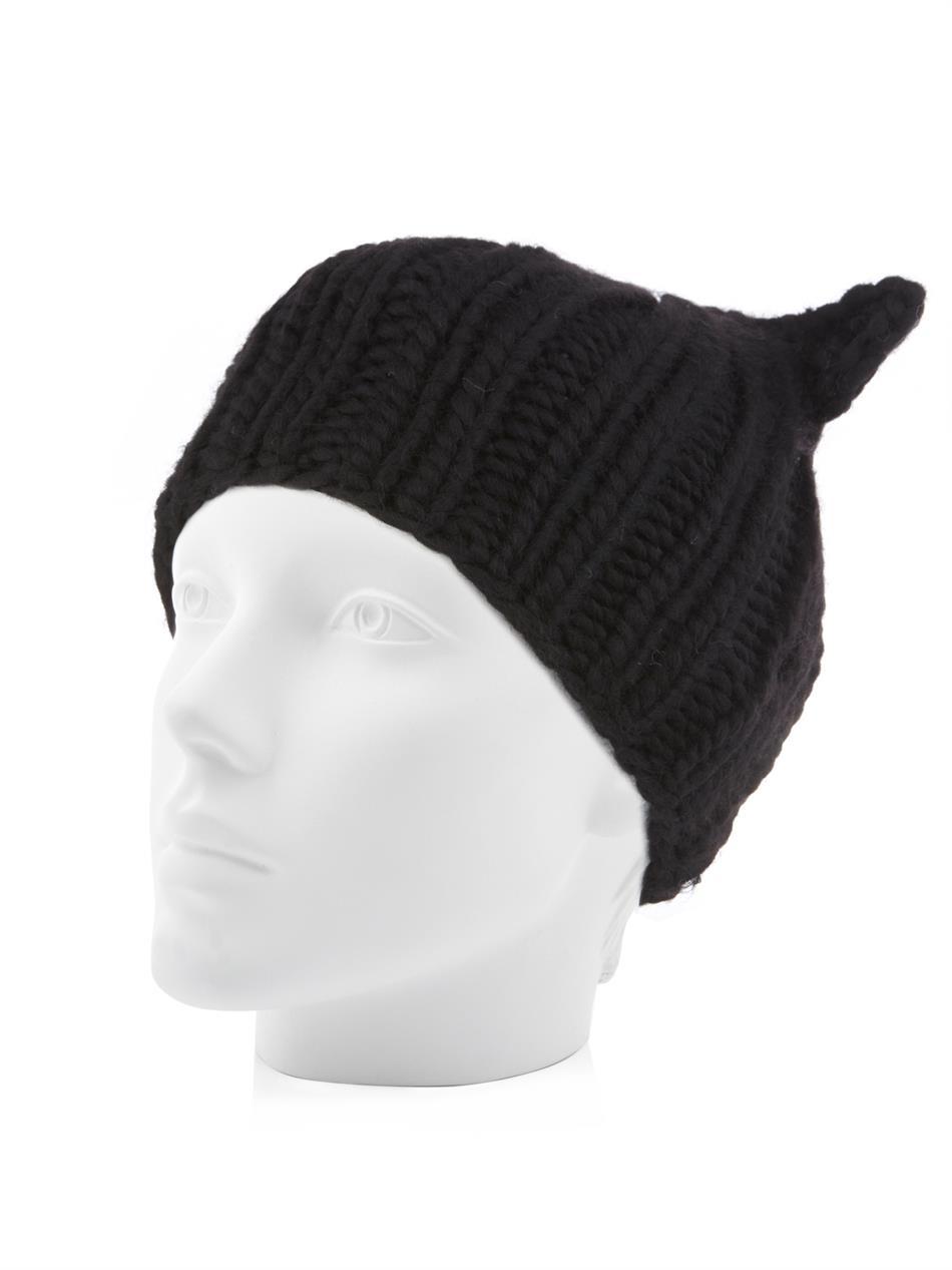 48ee374492e Lyst - Eugenia Kim Felix Cat-Ear Wool Beanie in Black