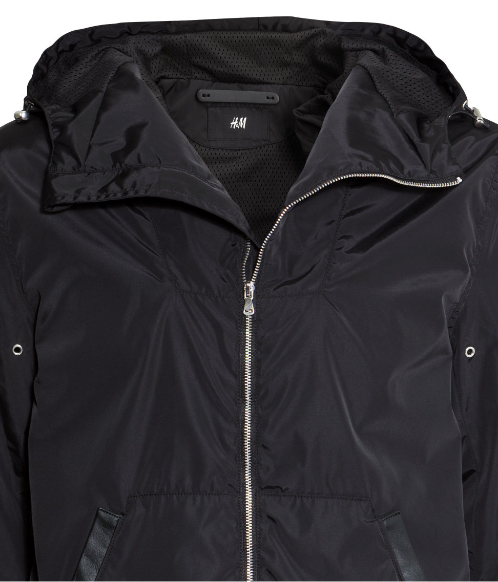 H&M Windbreaker in Black for Men