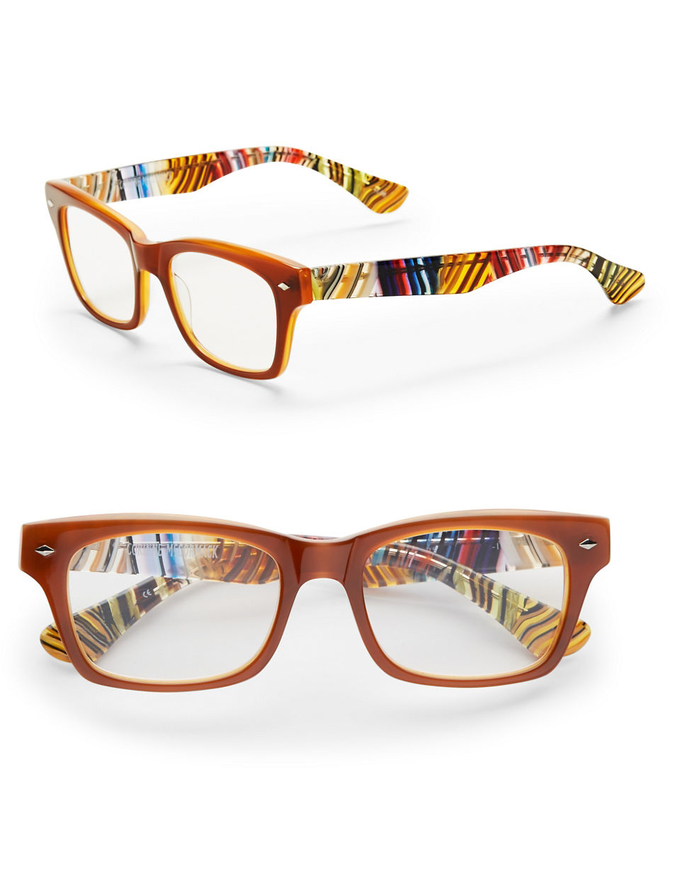 corinne mccormack 50mm emerson reading glasses in brown lyst