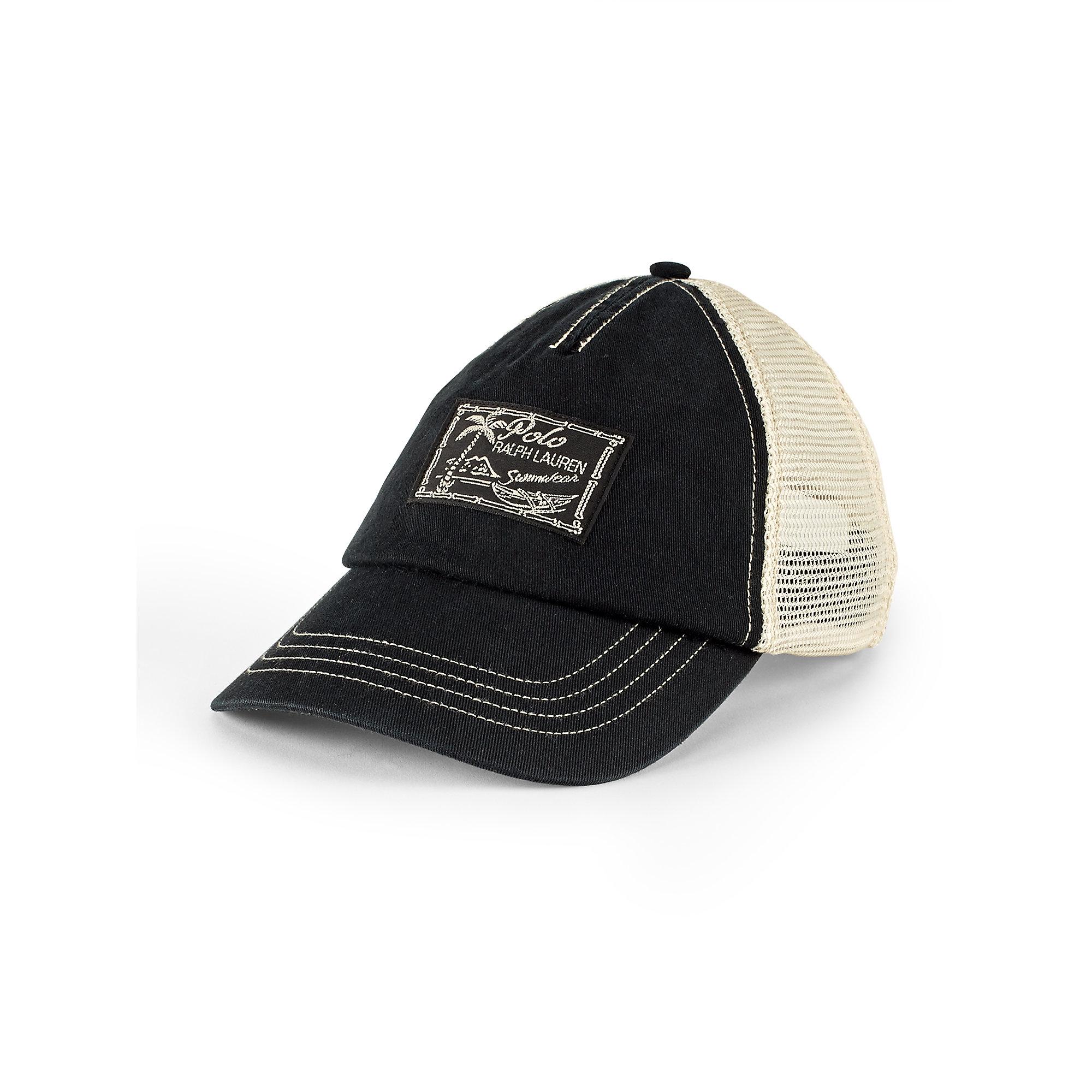 polo ralph lauren mesh trucker cap in black for men lyst. Black Bedroom Furniture Sets. Home Design Ideas