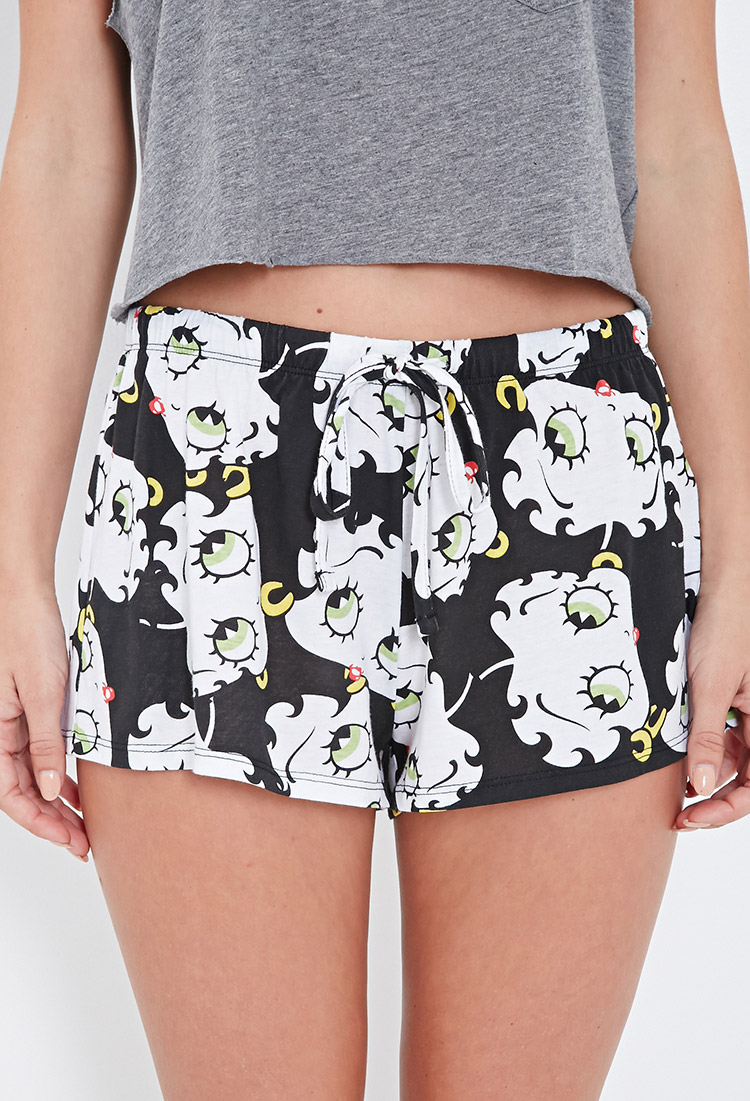 c40c1e482e3 Lyst - Forever 21 Betty Boop Pj Shorts You ve Been Added To The Waitlist