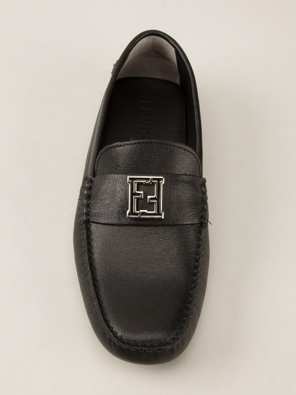 e1a2e4ad320 Lyst fendi logo detail loafer in black for men jpg 1000x1334 Fendi loafers