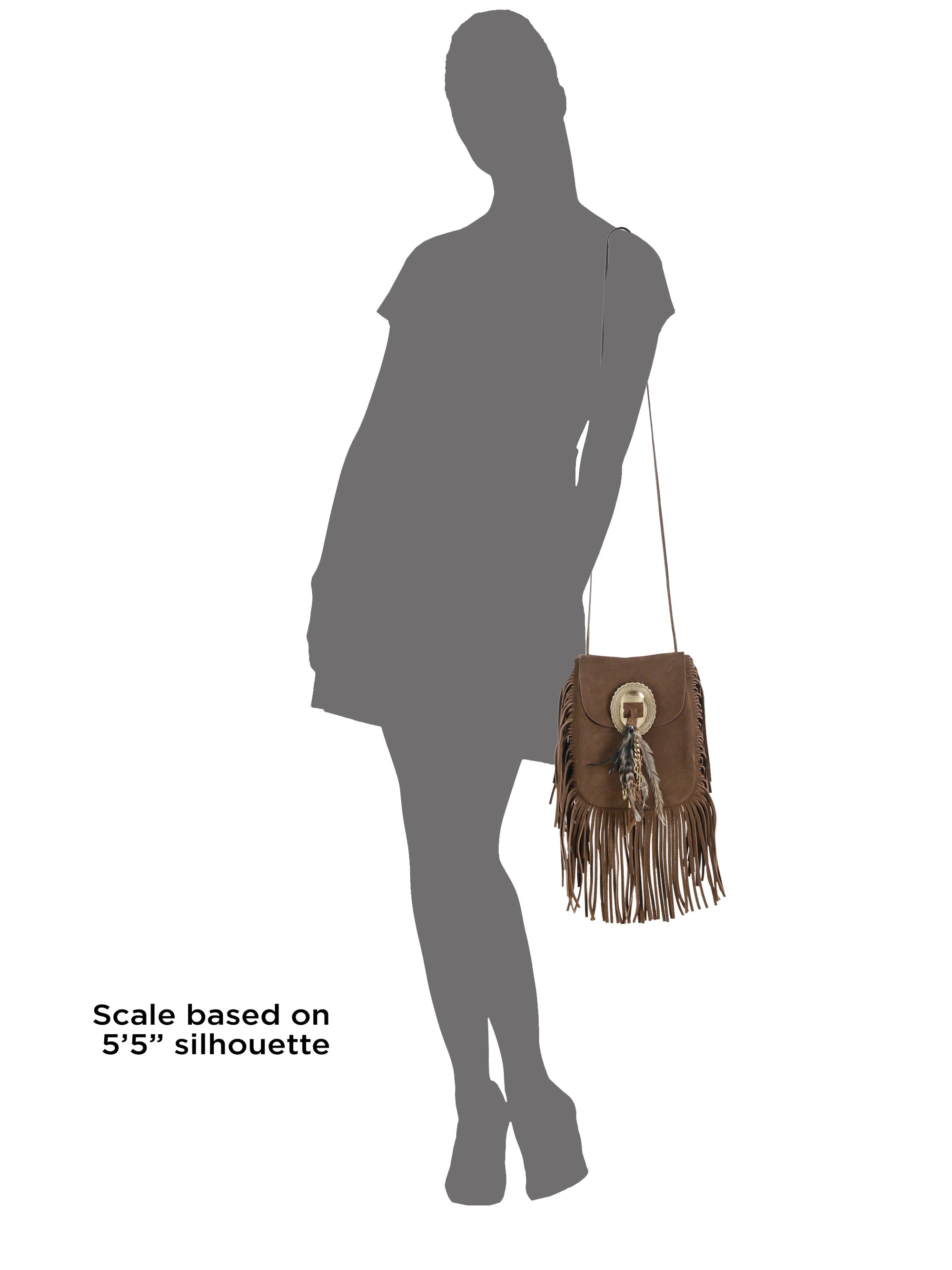 discount ysl bags - small monogram saint laurent fringed crossbody bag in brown suede