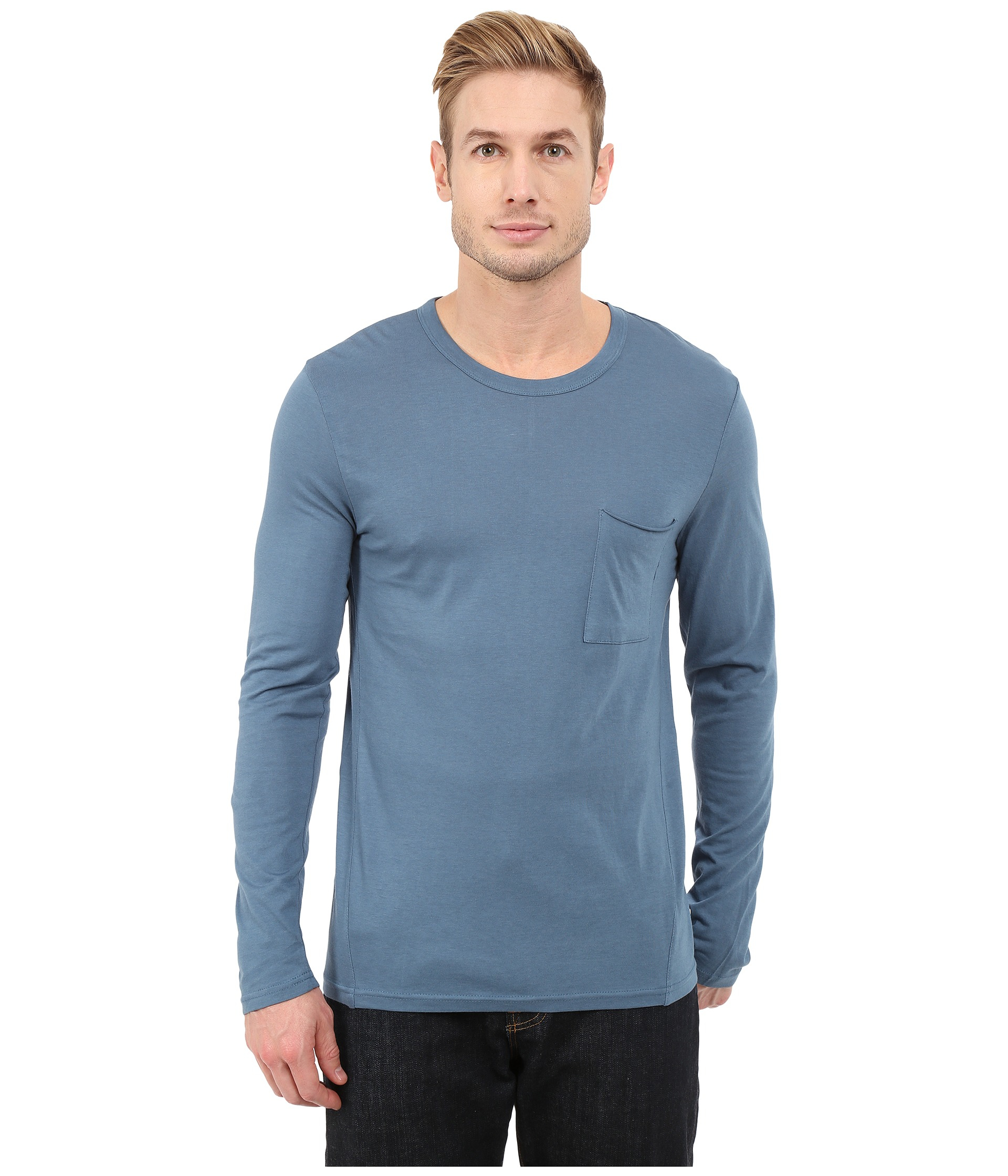 Alternative apparel cotton modal fatigued t shirt in blue for Modal t shirts mens
