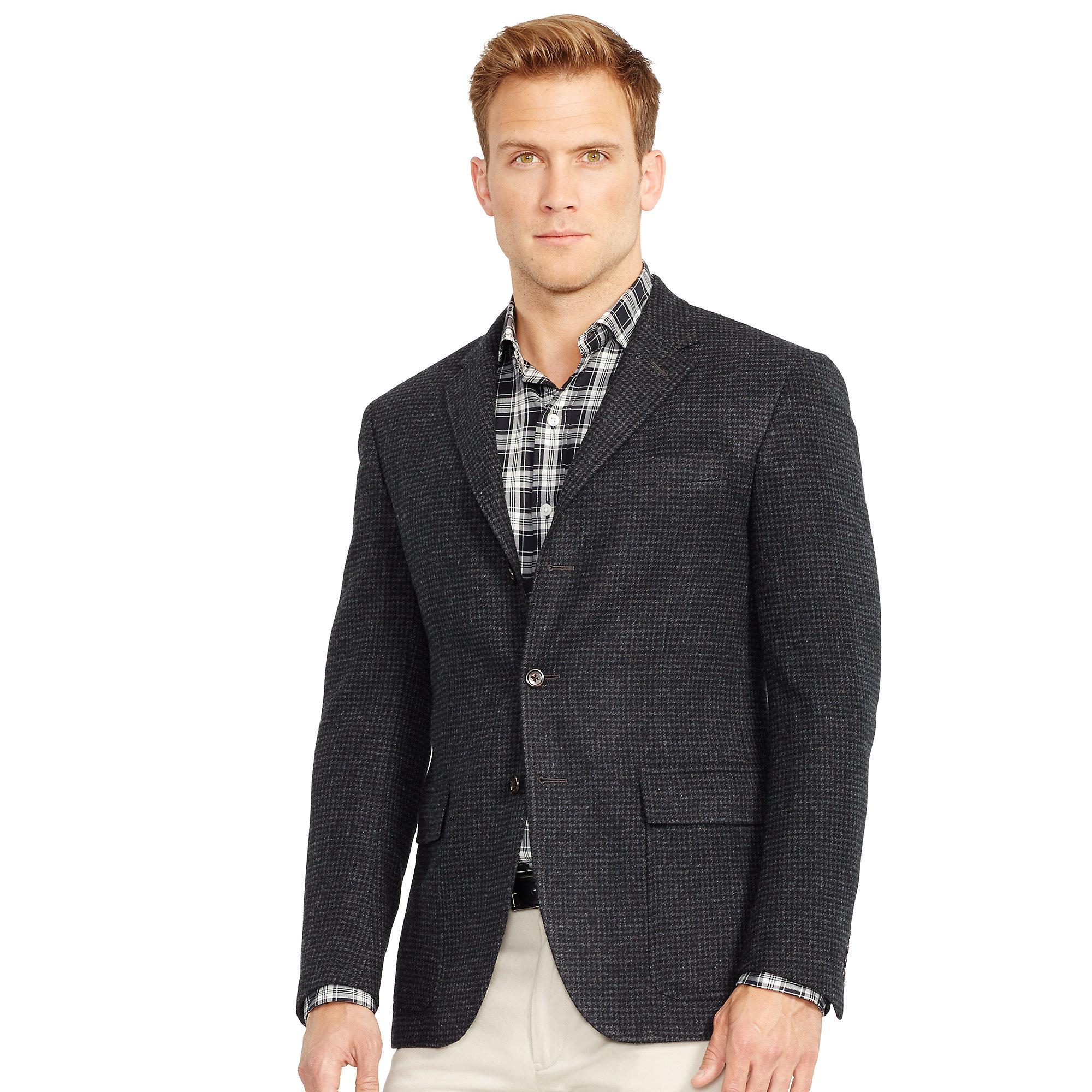 Polo ralph lauren Polo Houndstooth Sport Coat in Gray for Men | Lyst