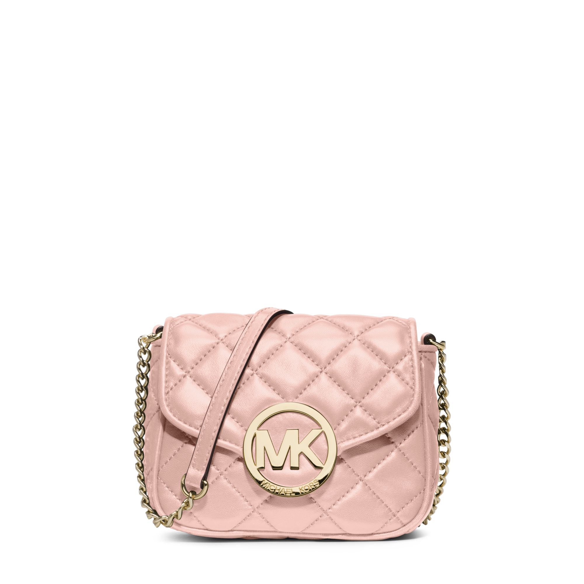 Michael kors Fulton Small Quilted-Leather Crossbody in Pink | Lyst : michael kors fulton quilted tote - Adamdwight.com