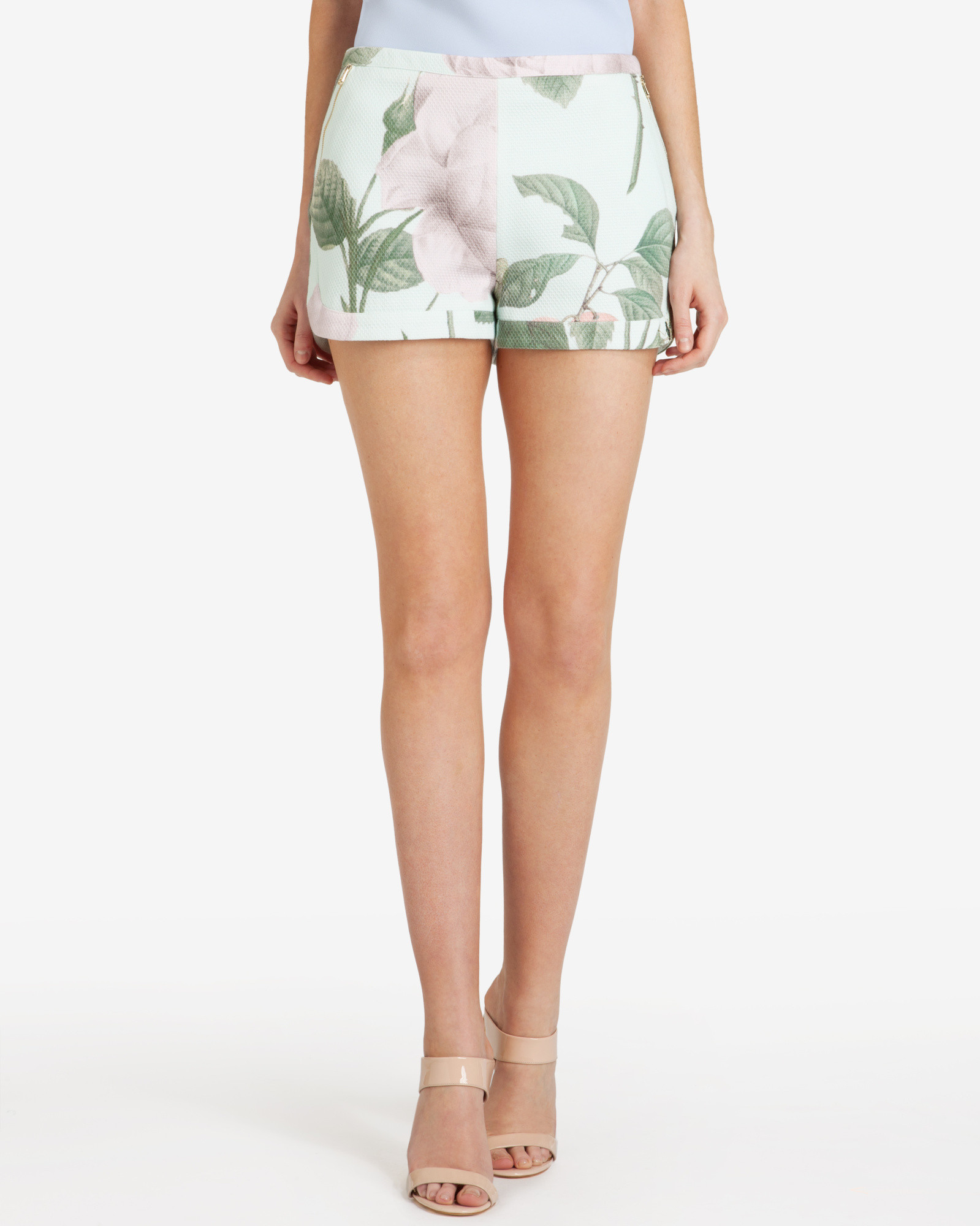 a70610683 Lyst - Ted Baker Distinguishing Rose Shorts in Green
