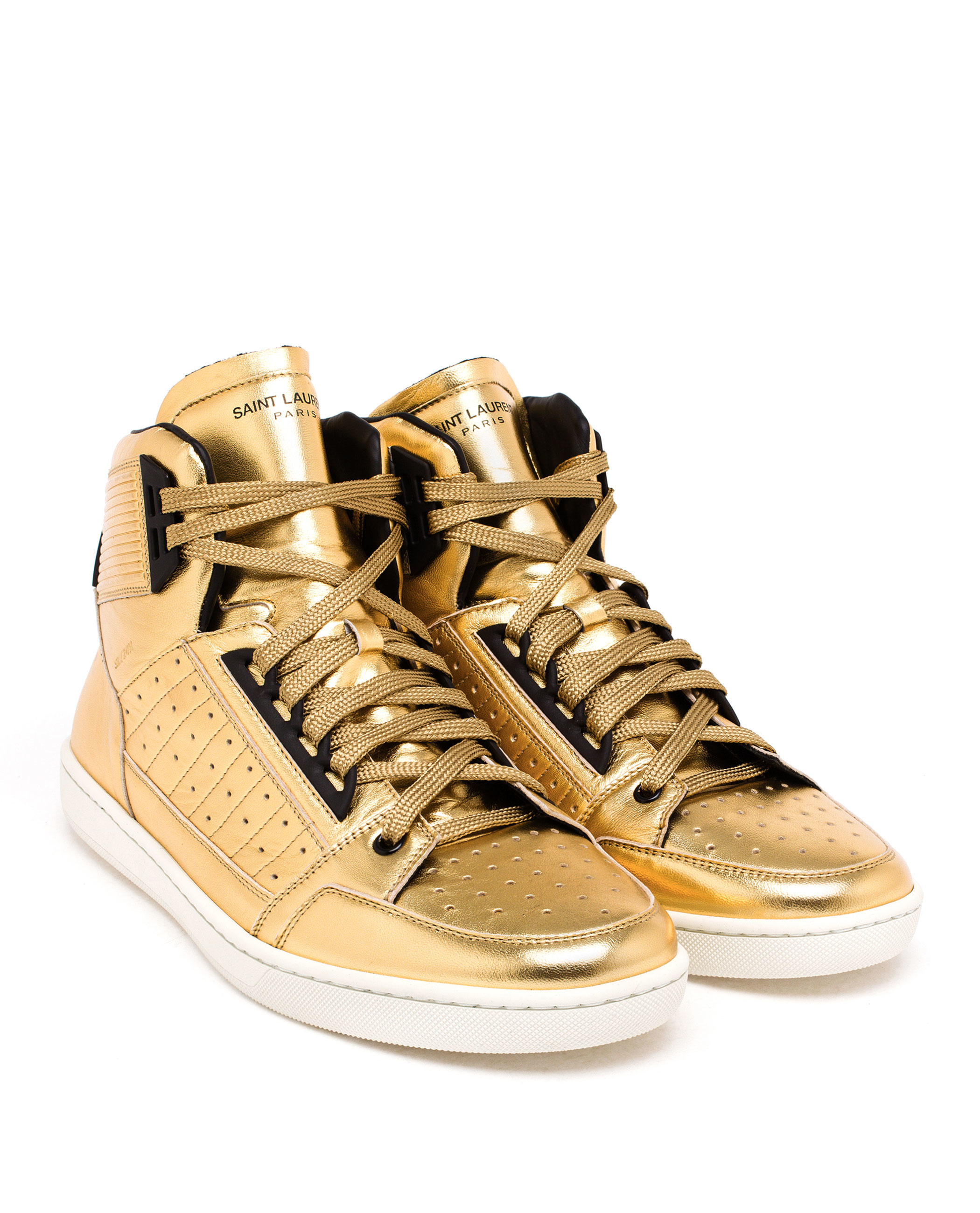 Saint Laurent High-top Trainers in Gold