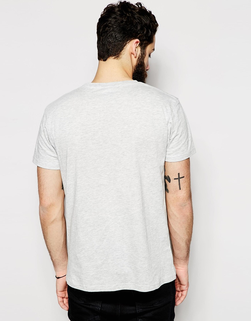 Cheap monday t shirt omdb print in gray for men for Print t shirt cheap